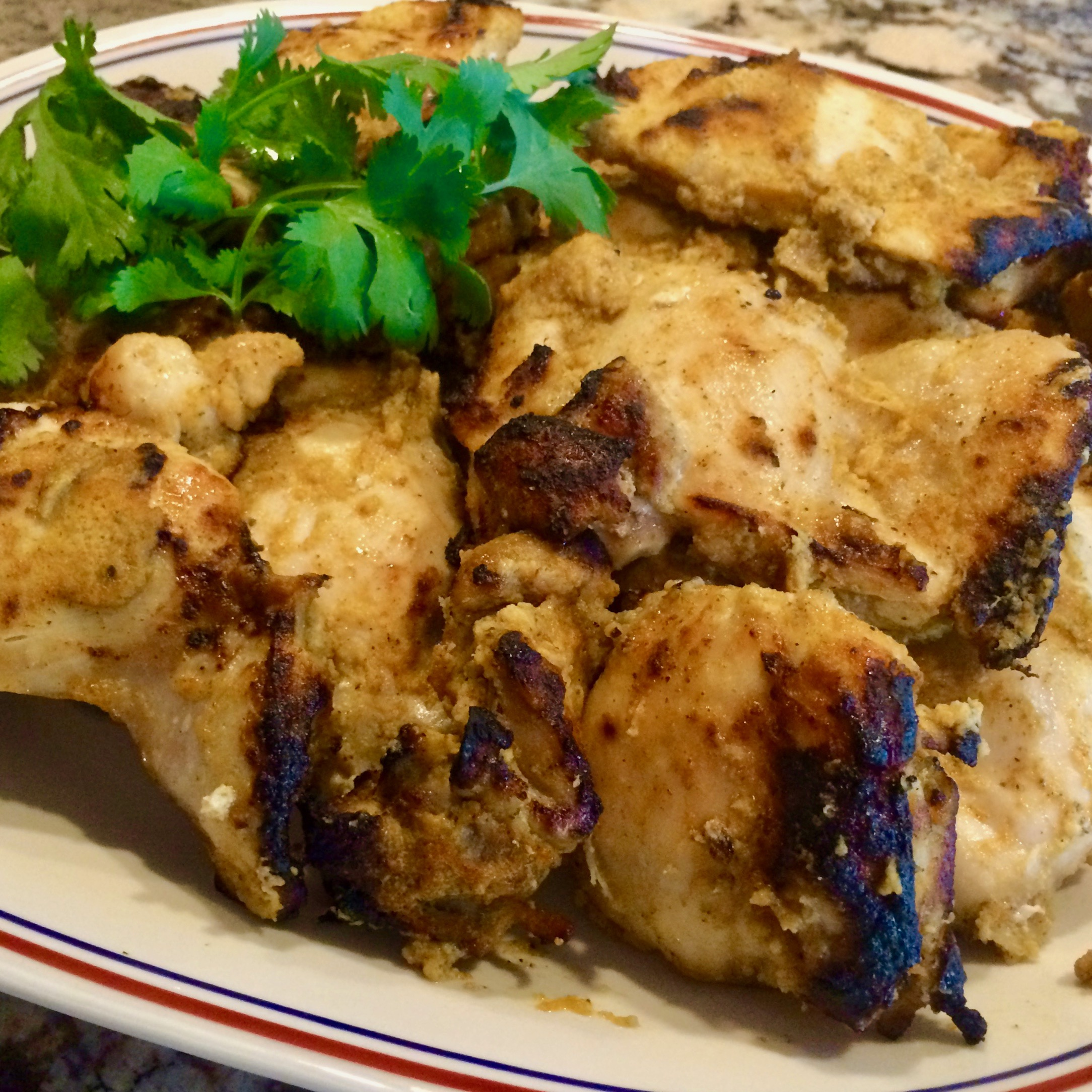 Zesty Broiled Chicken Thighs
