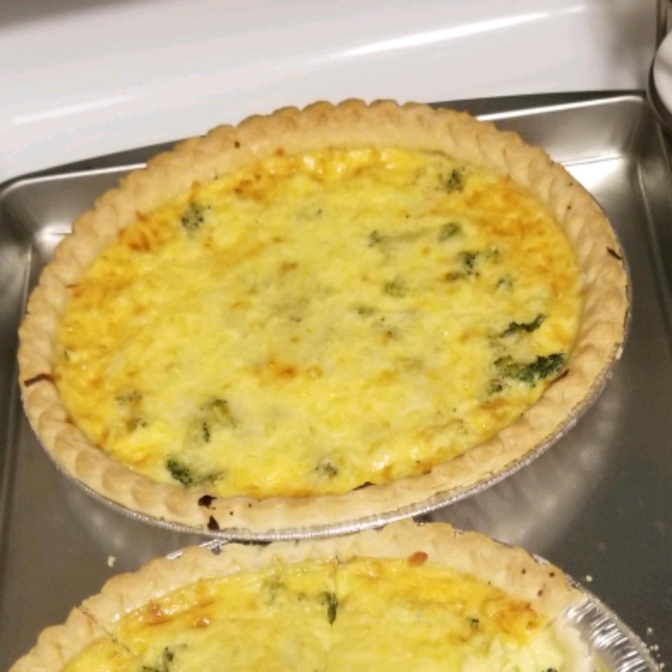 Broccoli and Provolone Quiche