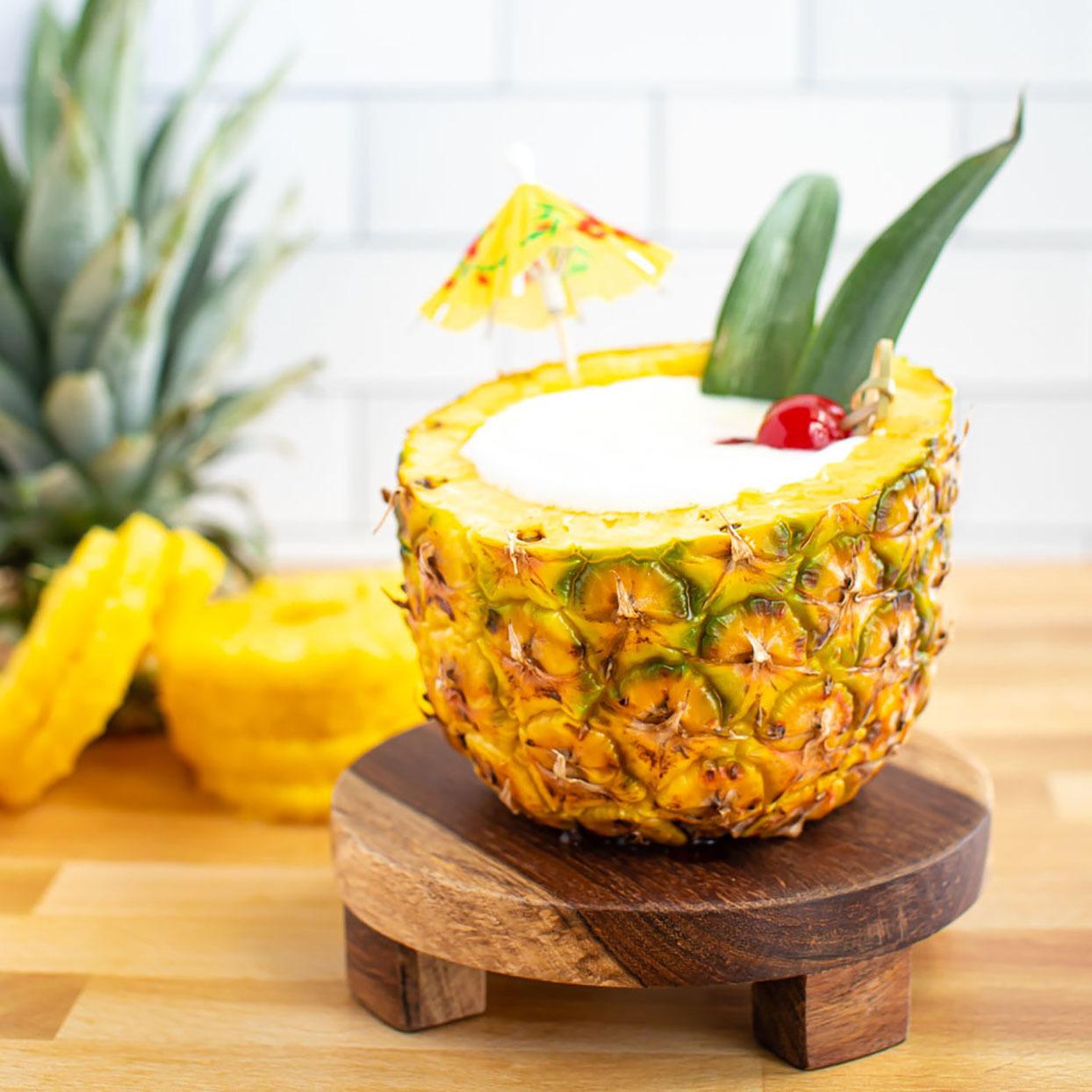 Piña Colada in a Pineapple Allrecipes Trusted Brands