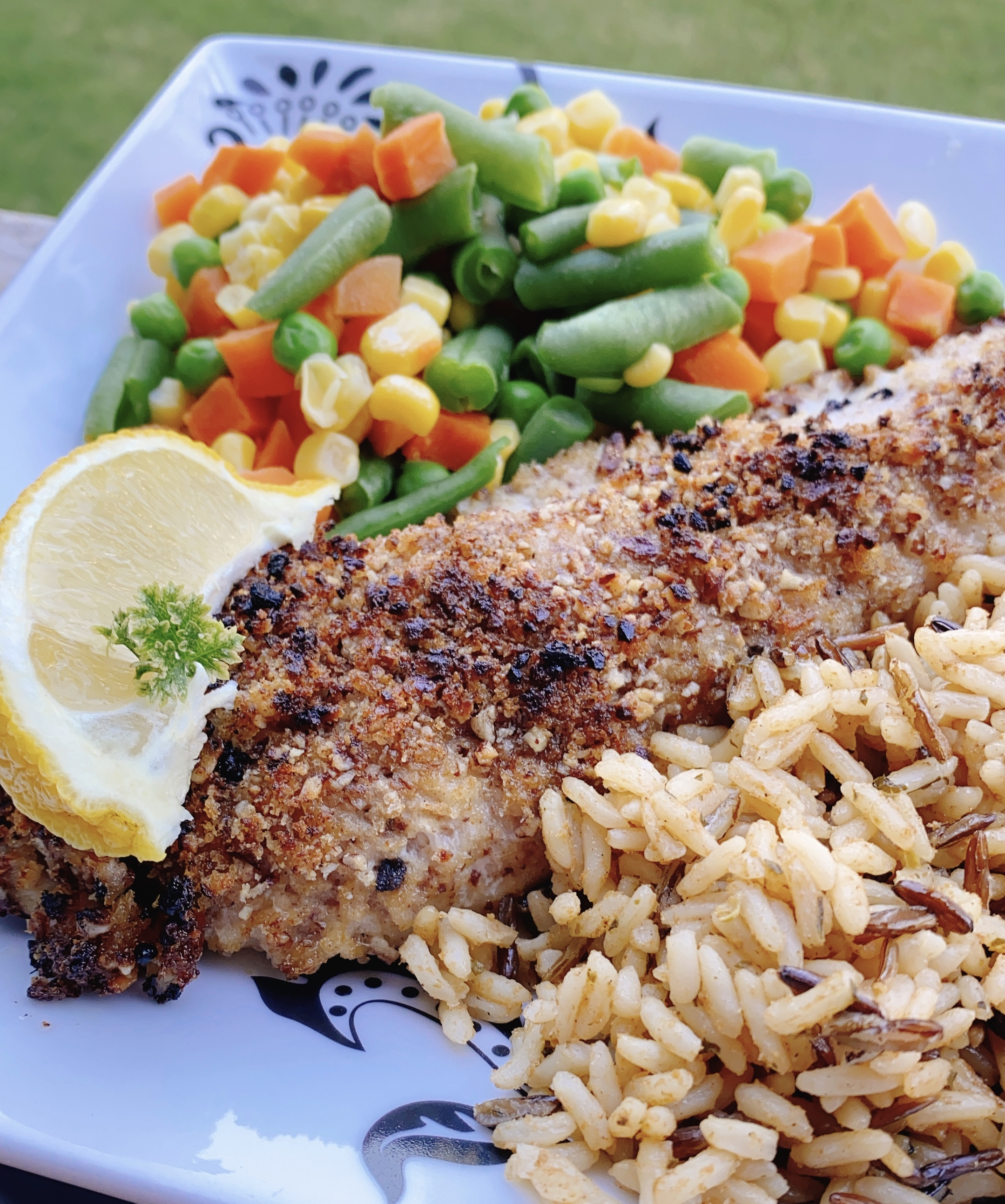 Pecan-Crusted Rockfish with Old Bay®
