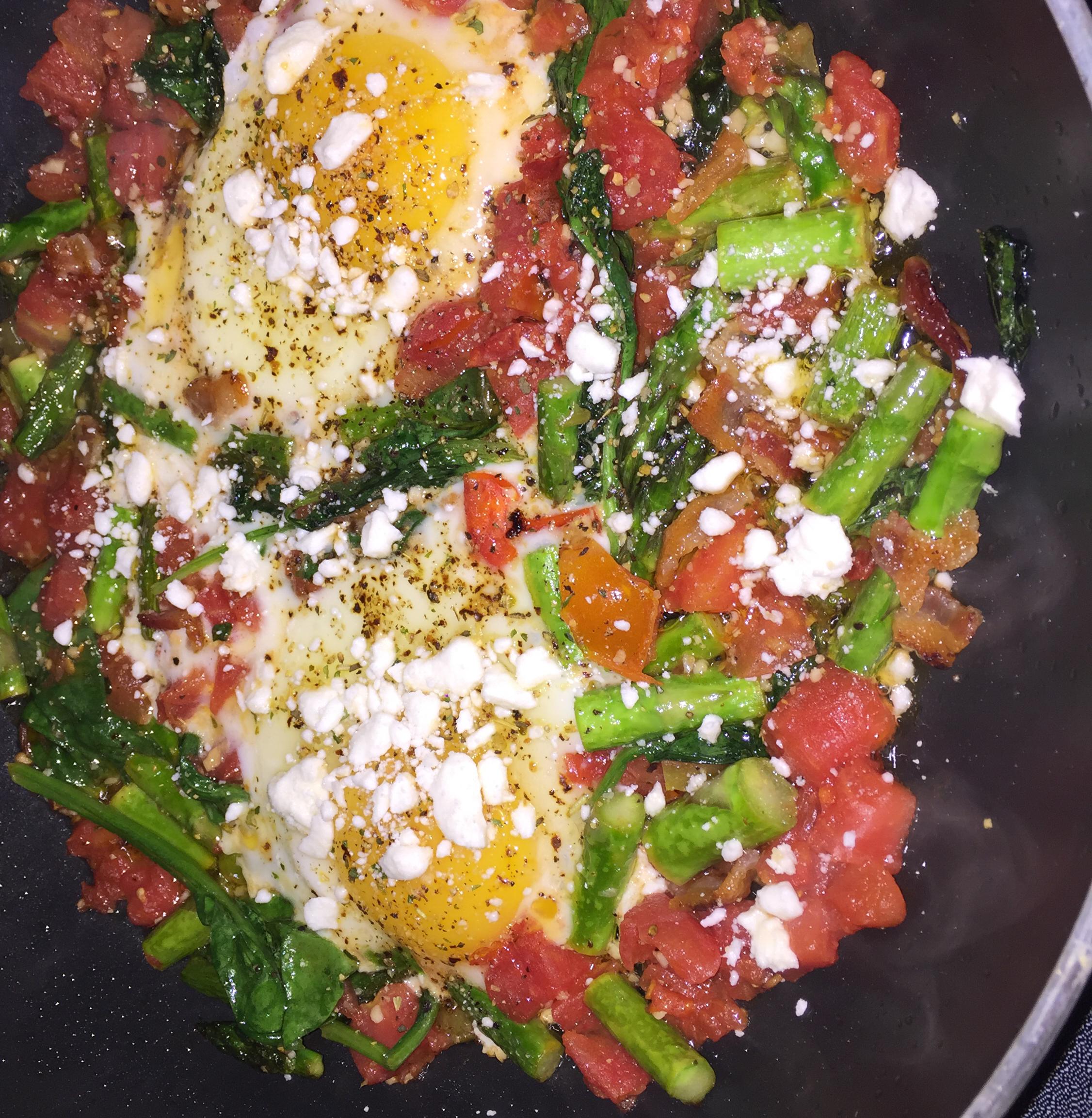 Veggie Poached Eggs Candice
