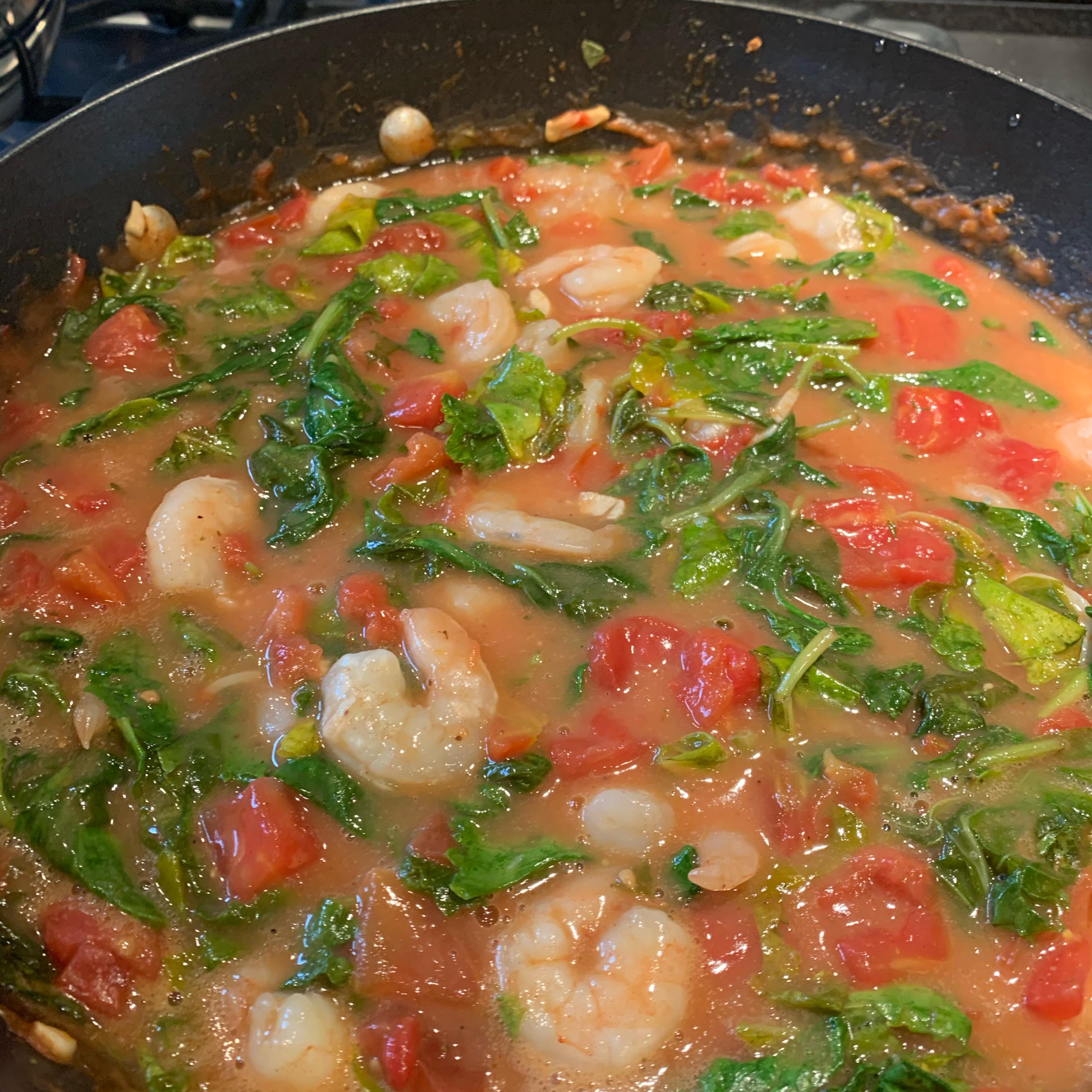 Cajun Shrimp and Greens Soup Melissa