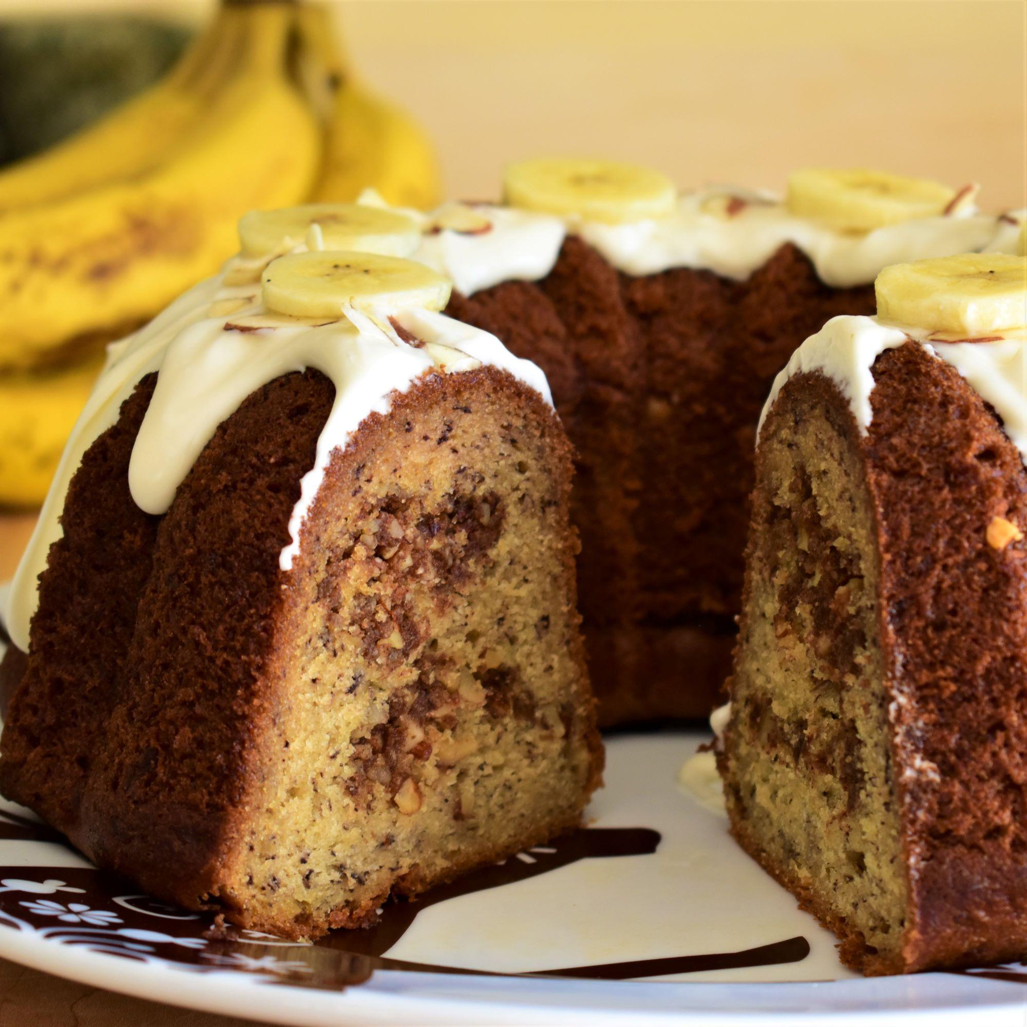 Banana-Almond Streusel Bundt® Cake