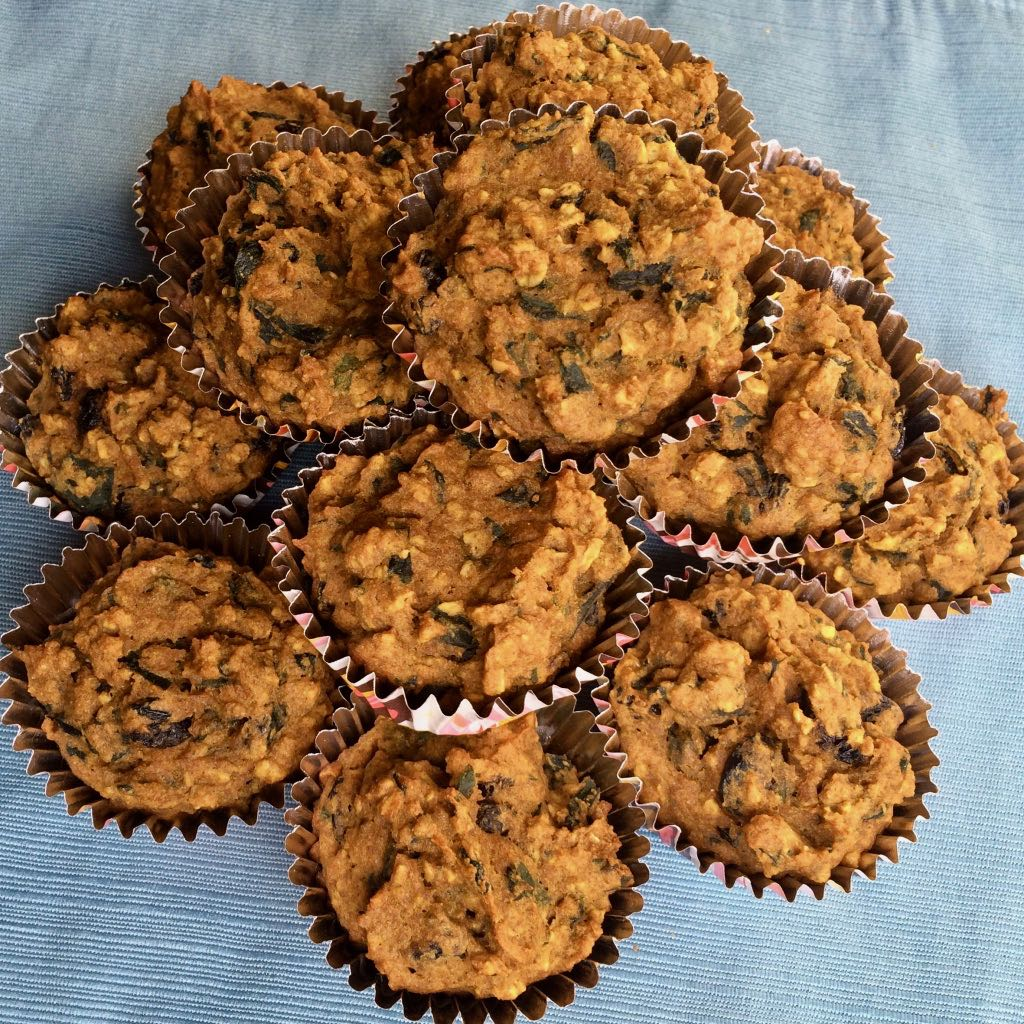 Pumpkin Spinach Toddler Muffins Bibi