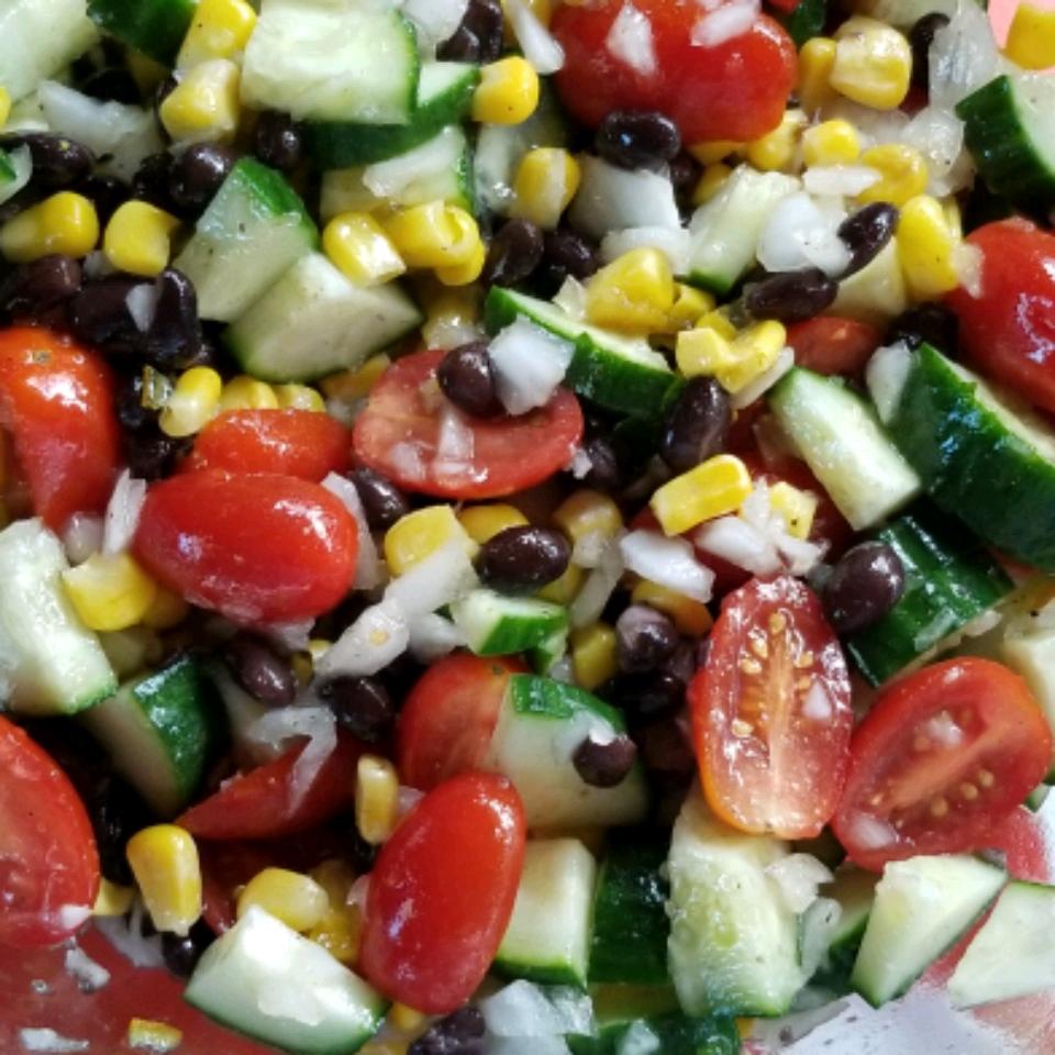 Black Bean and Cucumber Salad