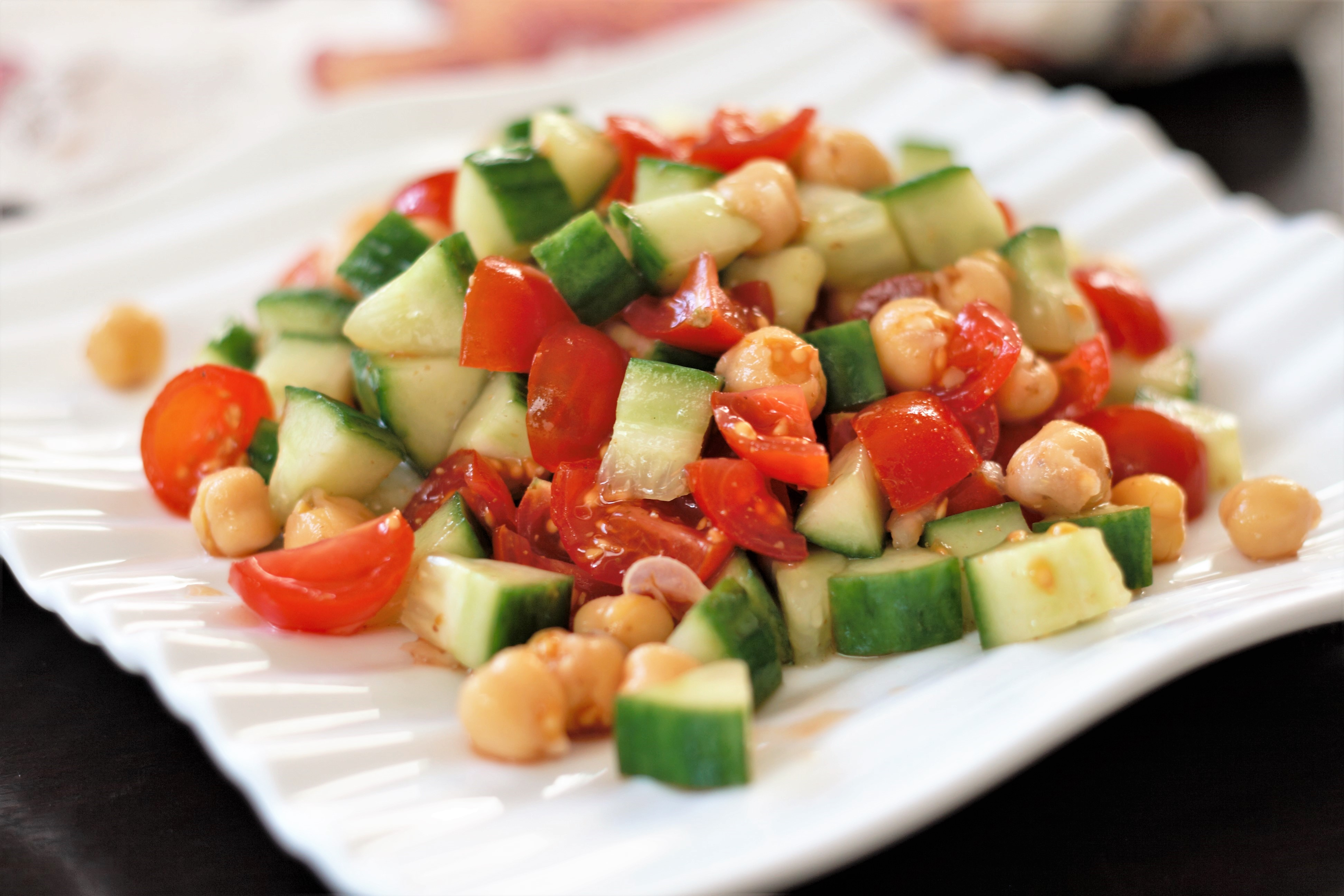 Indian Chickpea Chaat Salad