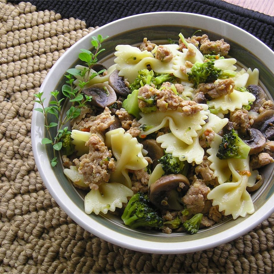 Italian Sausage with Farfalle and Broccoli Rabe