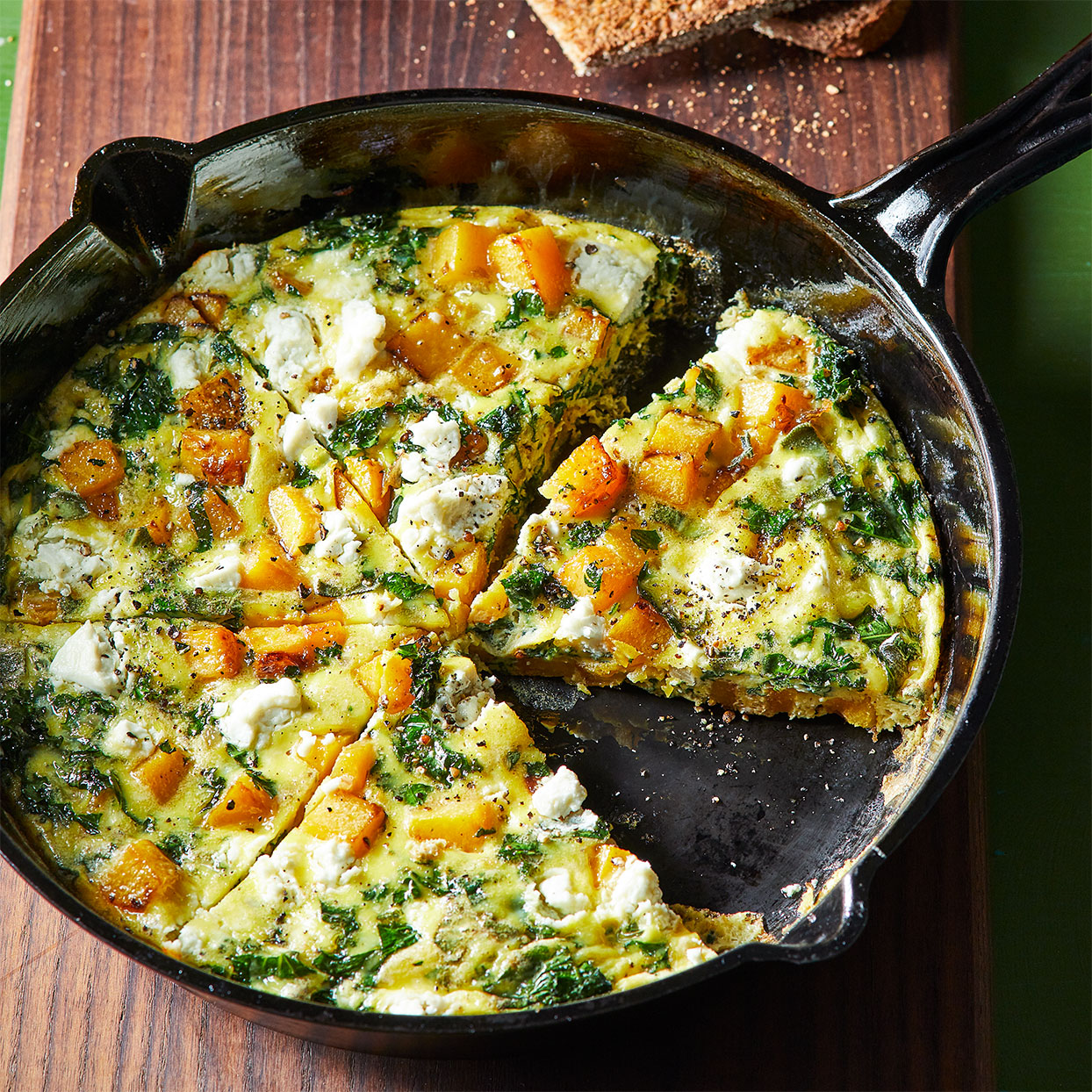 This easy frittata recipe is full of fall flavors, thanks to creamy butternut squash, plenty of fresh sage, and earthy lacinato kale. Source: Diabetic Living Magazine, Fall 2020