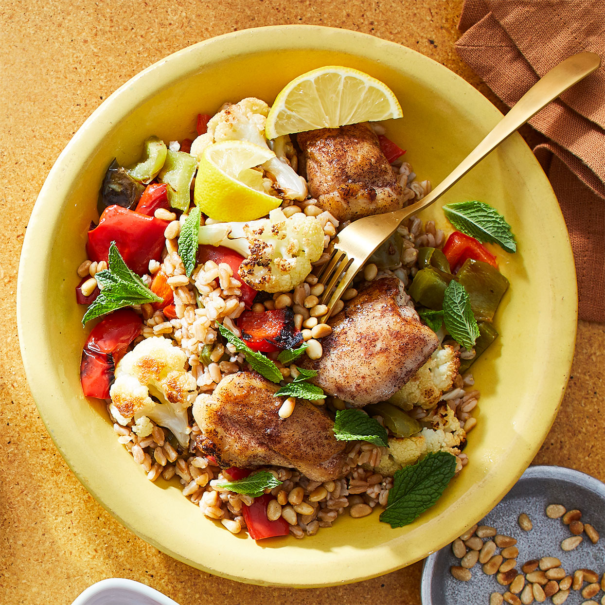 Grilled Chicken with Farro & Roasted Cauliflower Trusted Brands