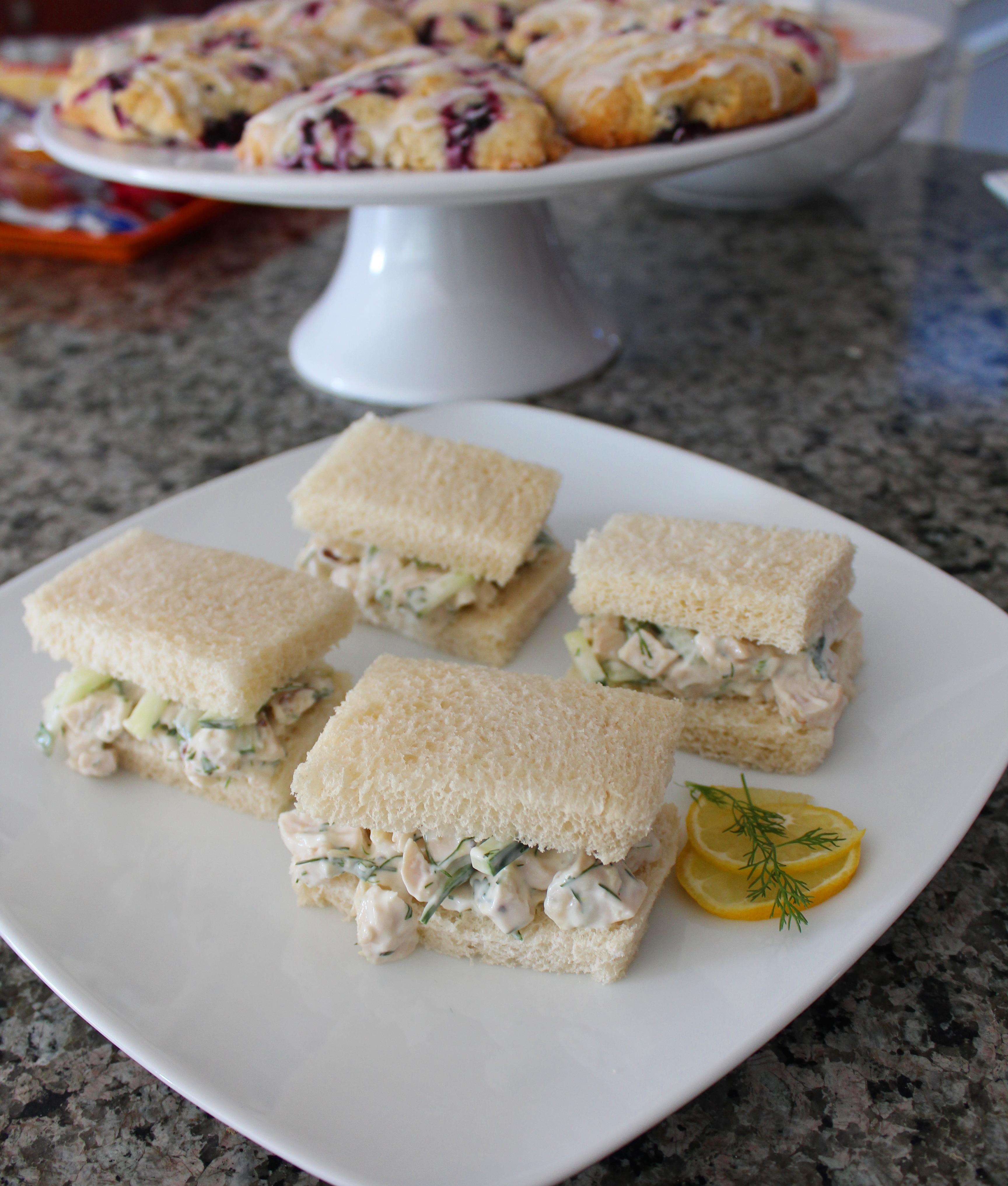 Tea Room Chicken Salad Sandwiches