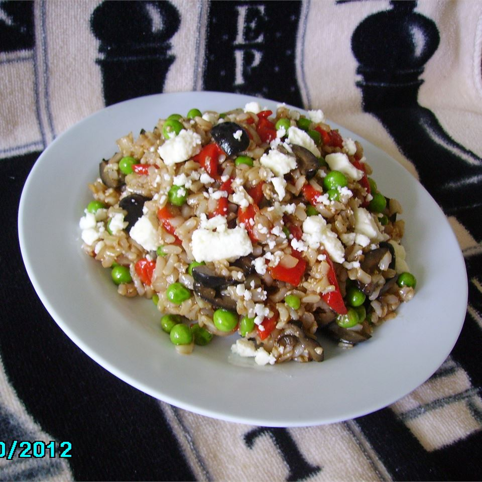 Mediterranean Brown Rice Salad Christina
