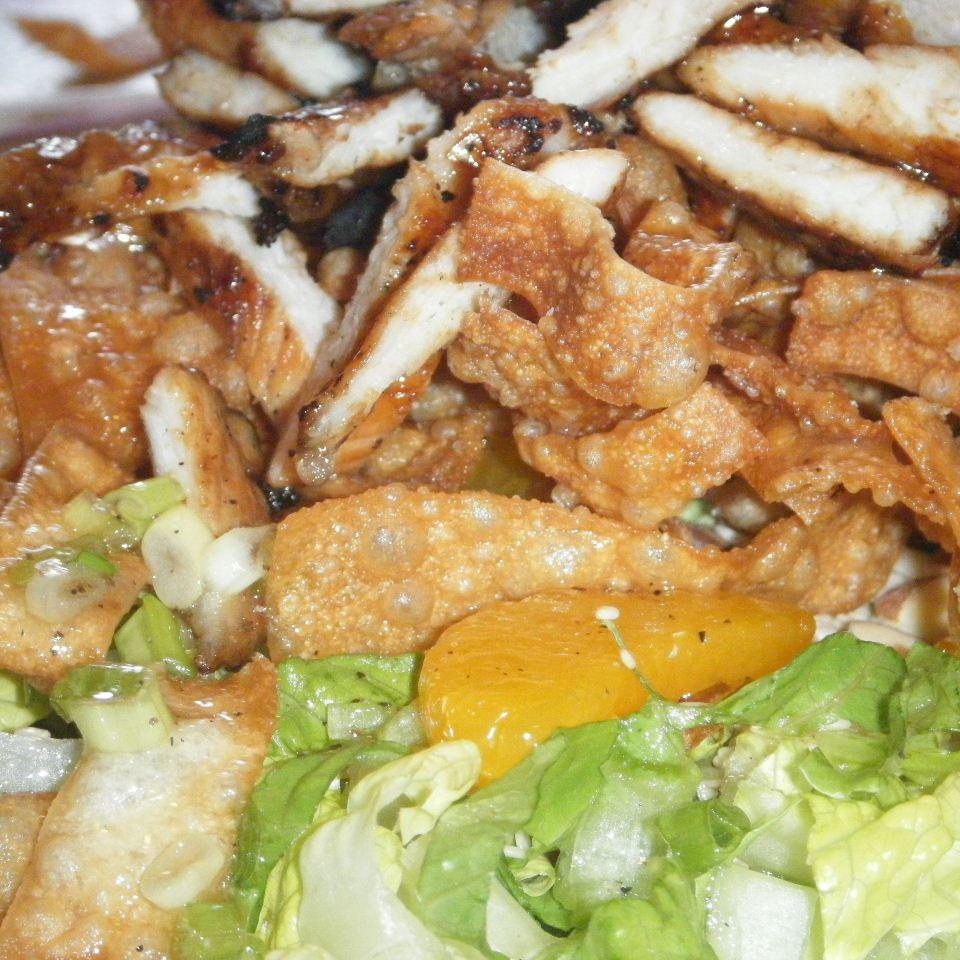 Grilled Wonton Chicken Salad Kori Lavertue