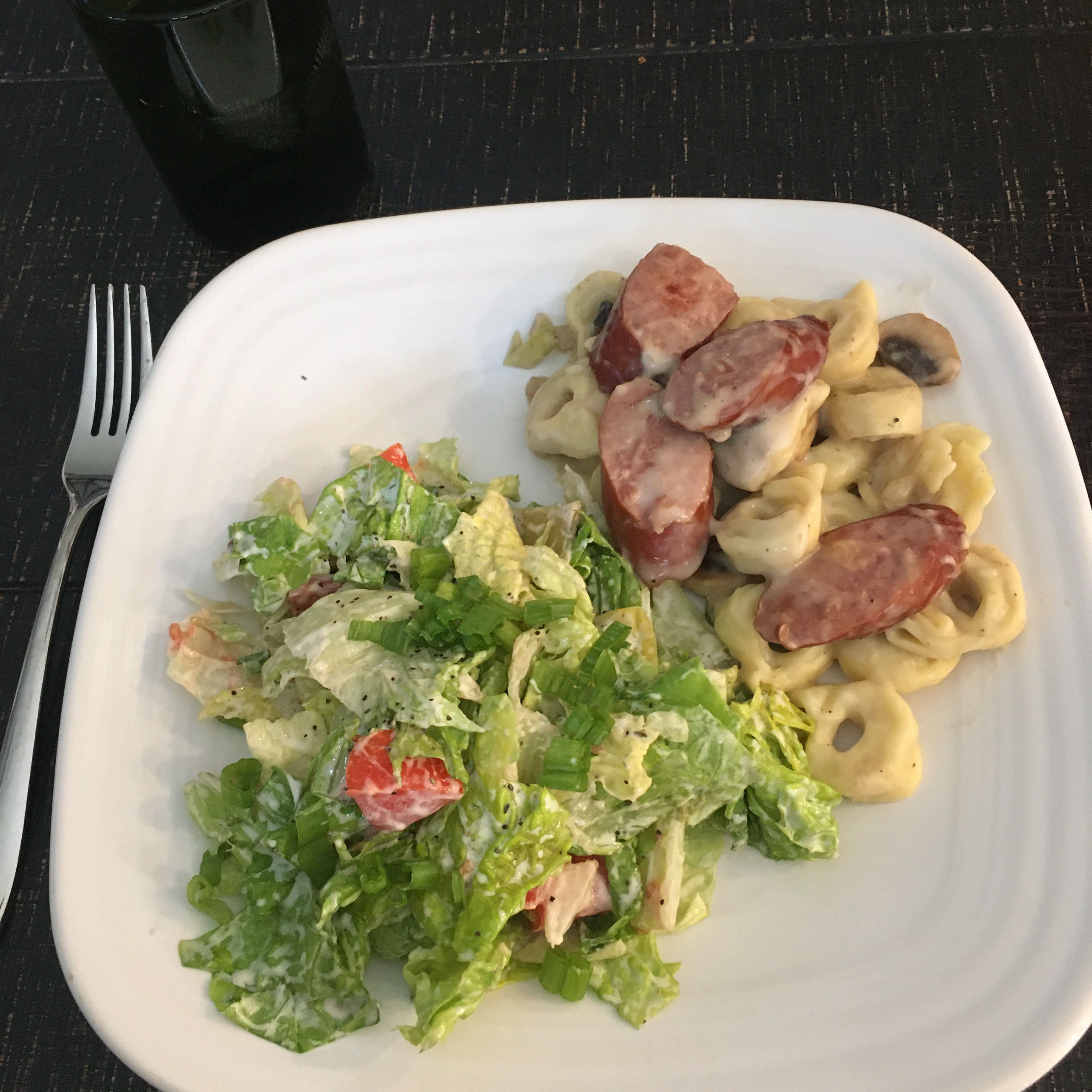 Tortellini Alfredo with Sausage