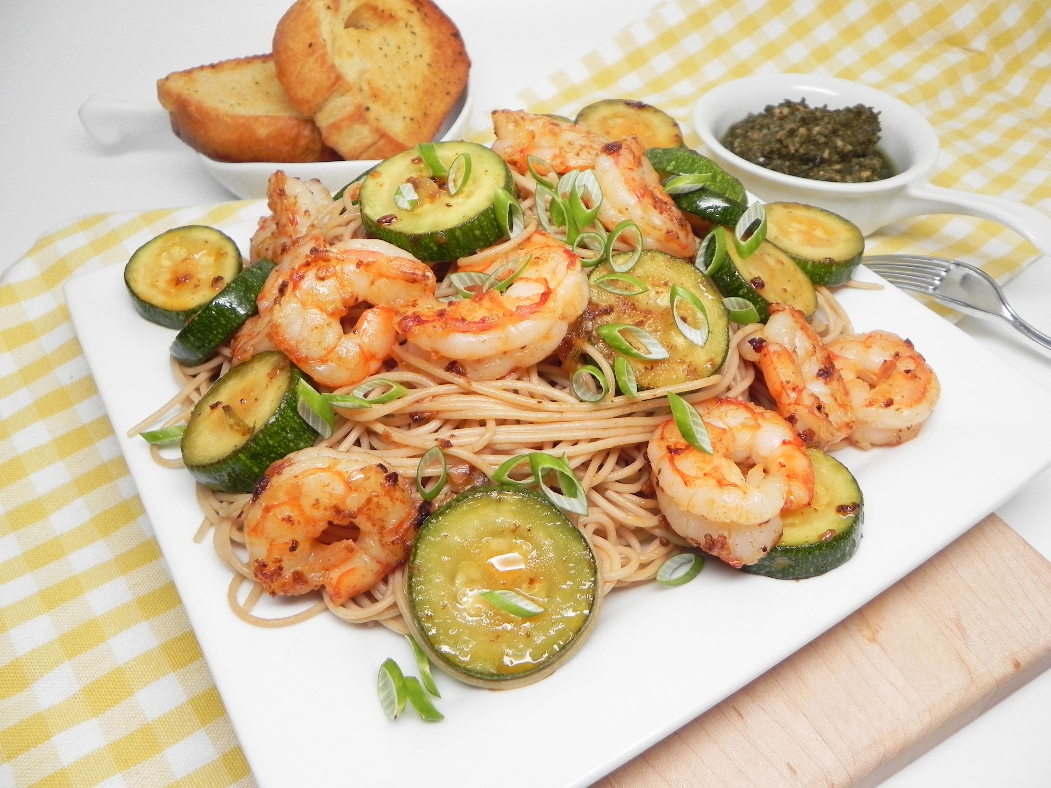 Summery Shrimp with Pesto