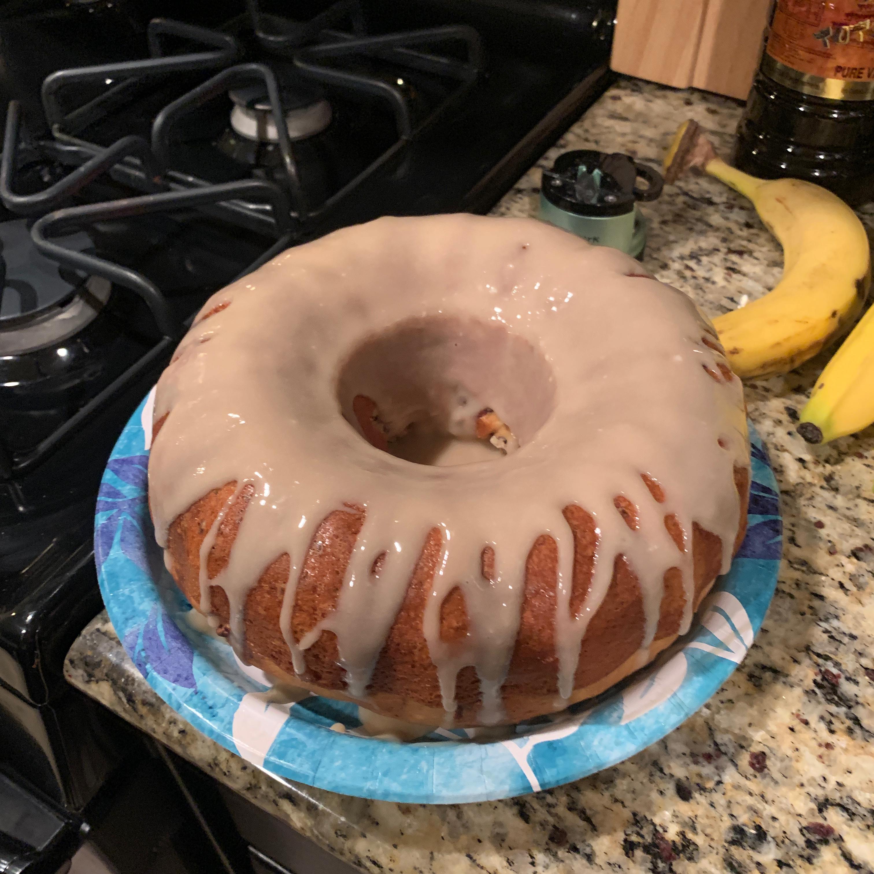 Banana Rum Cake CraftyCreoleChick
