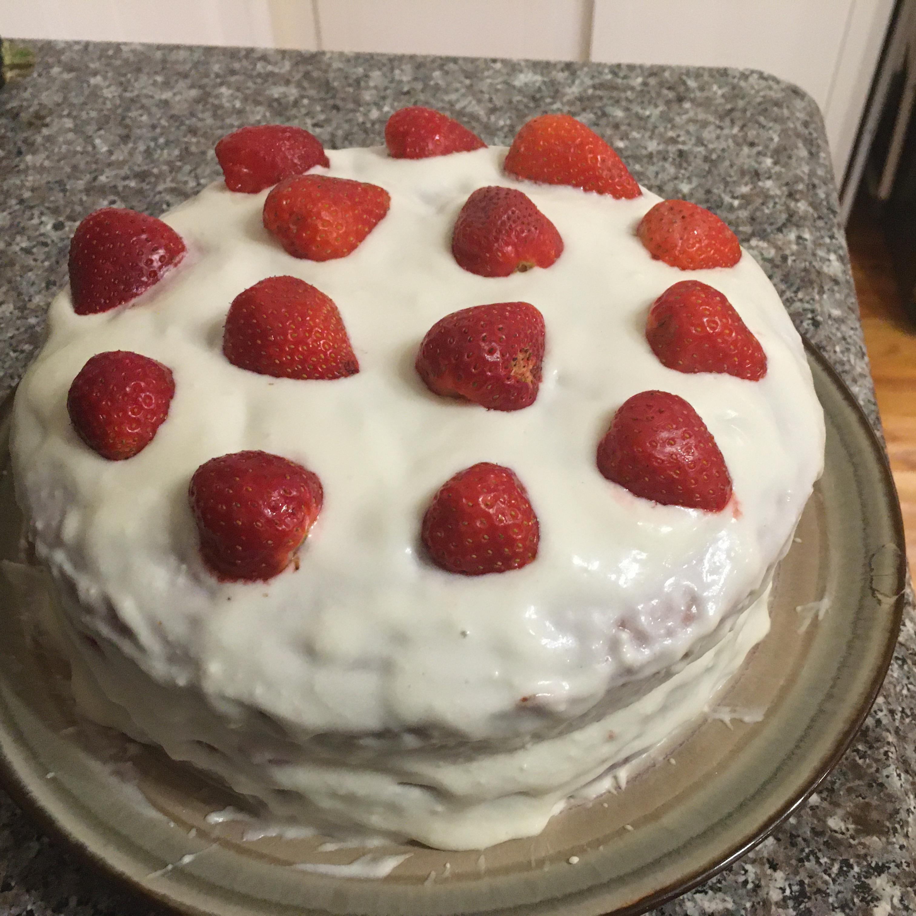 Red Velvet Strawberry Cake Ronald Starner