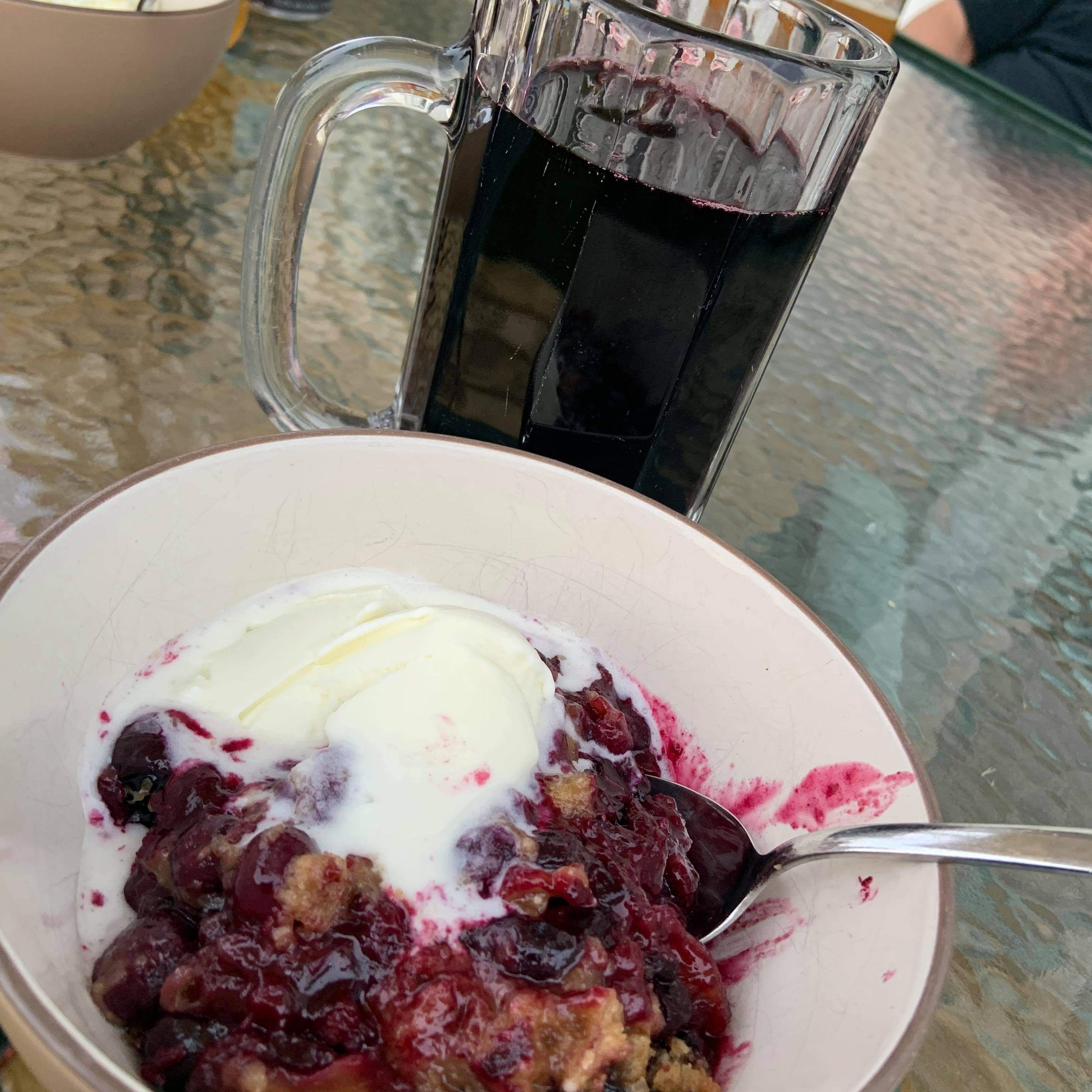 Classic American Blueberry Crisp cathy selby