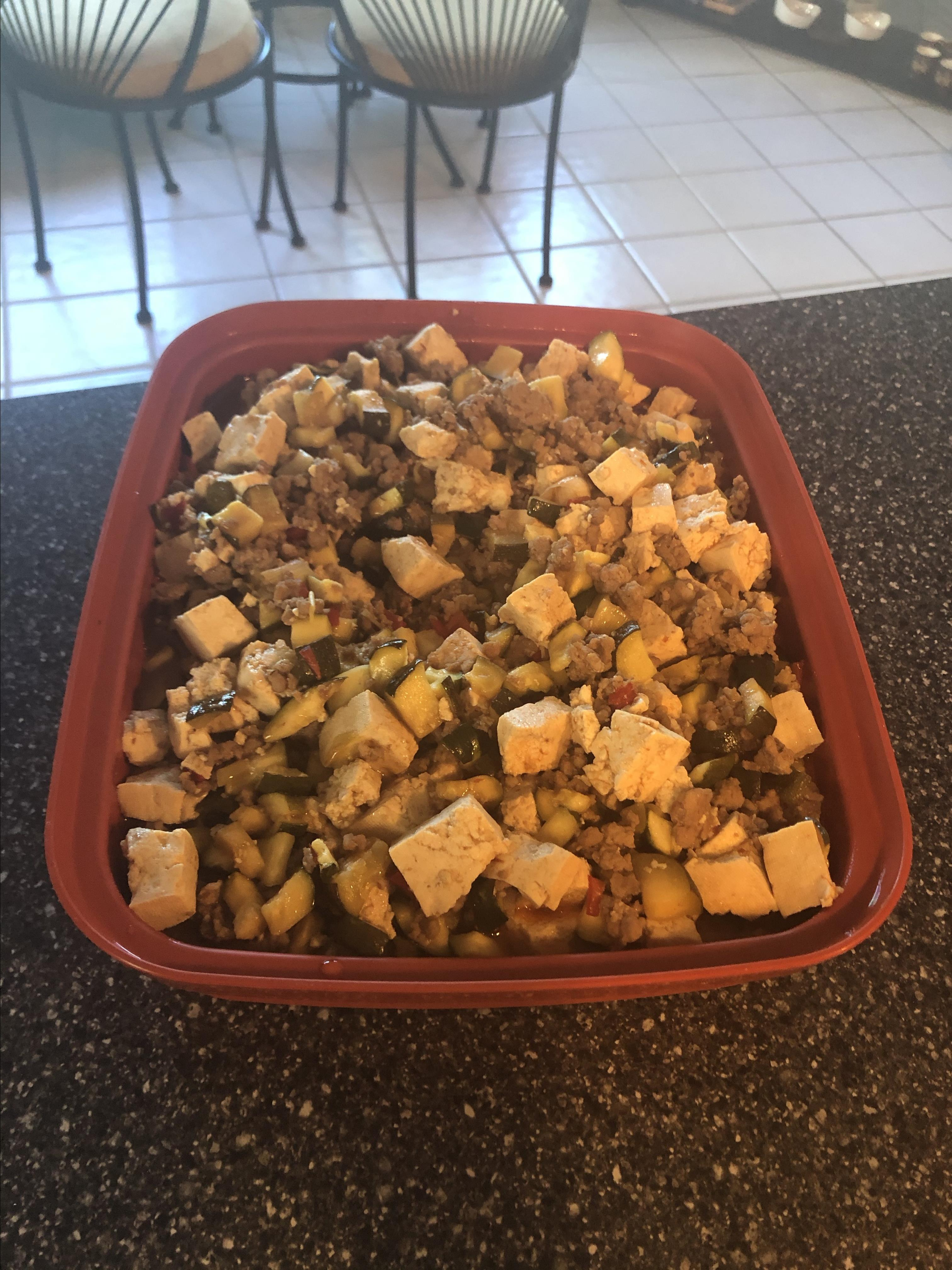Spicy Pork and Vegetable Tofu Jeffrie