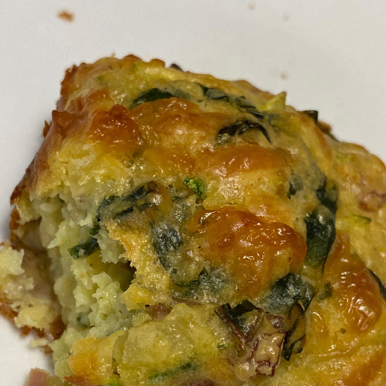 Savory Zucchini Chard Muffins AnneDL