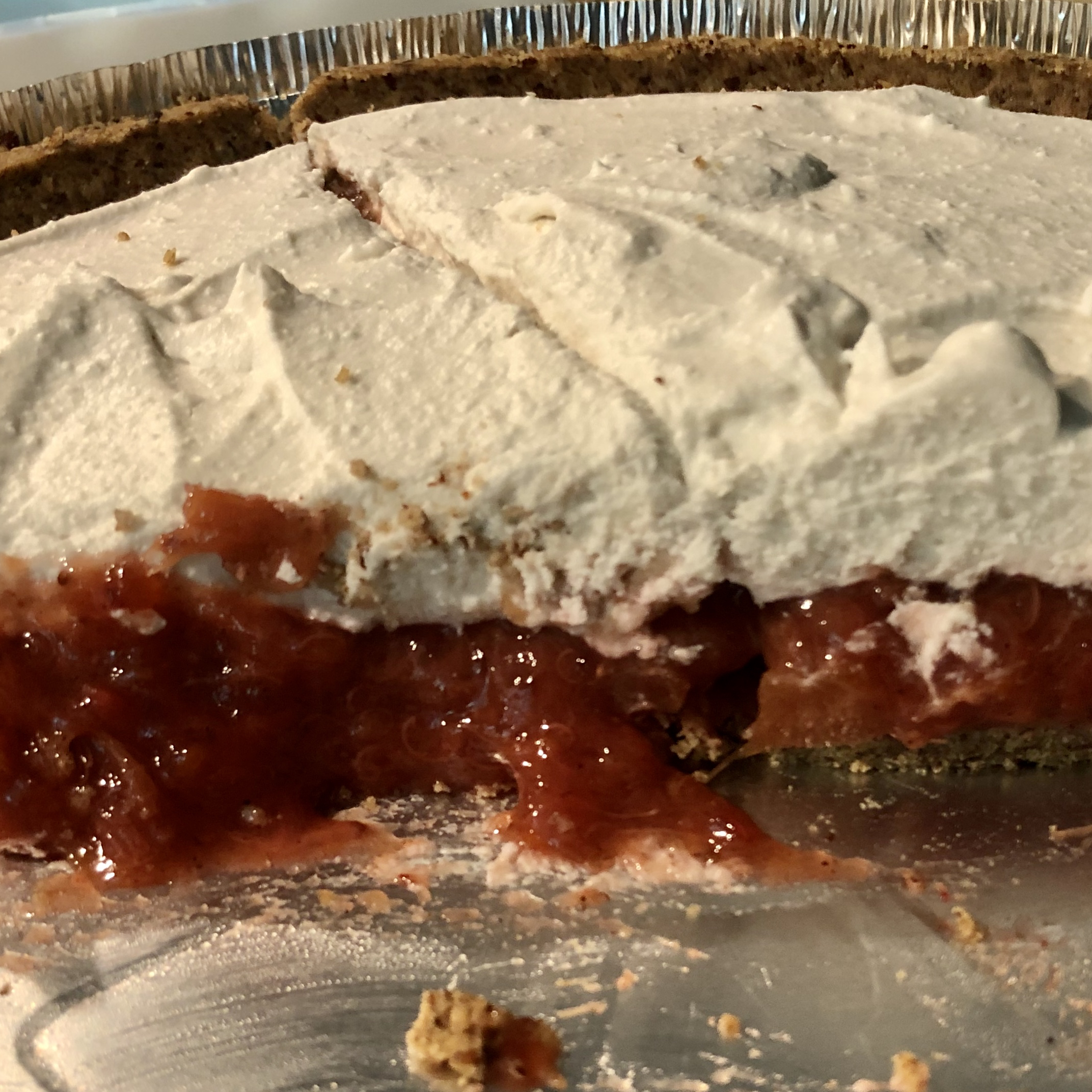 Strawberry Rhubarb Compote with Vanilla Bean-Infused Coconut Cream Merat