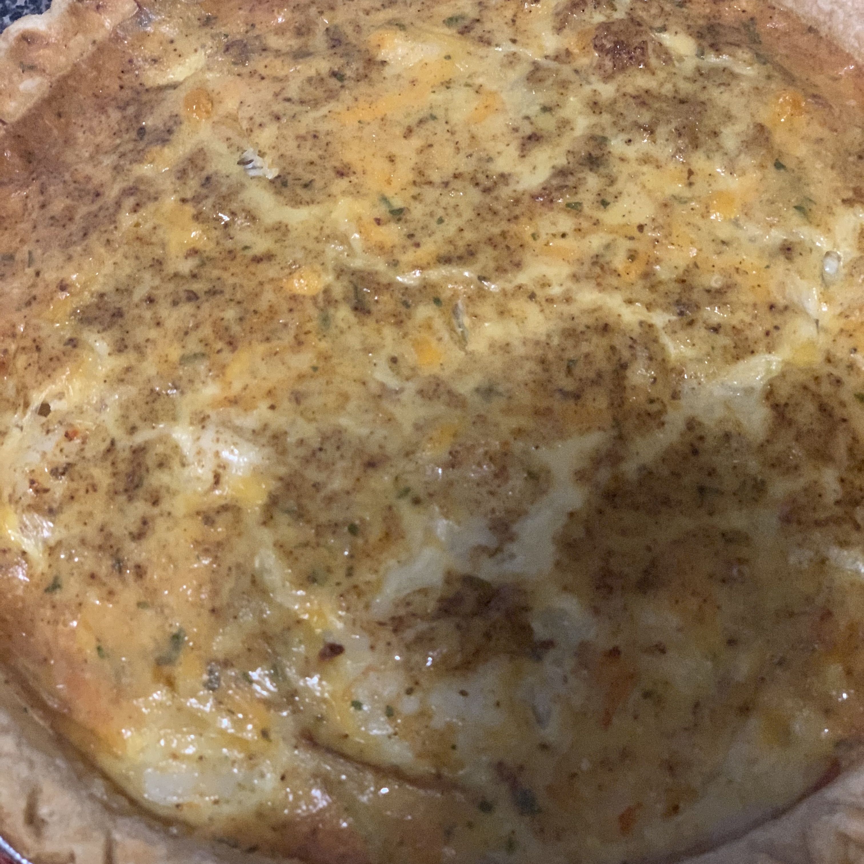 Crab and Cheddar Quiche AaronJ