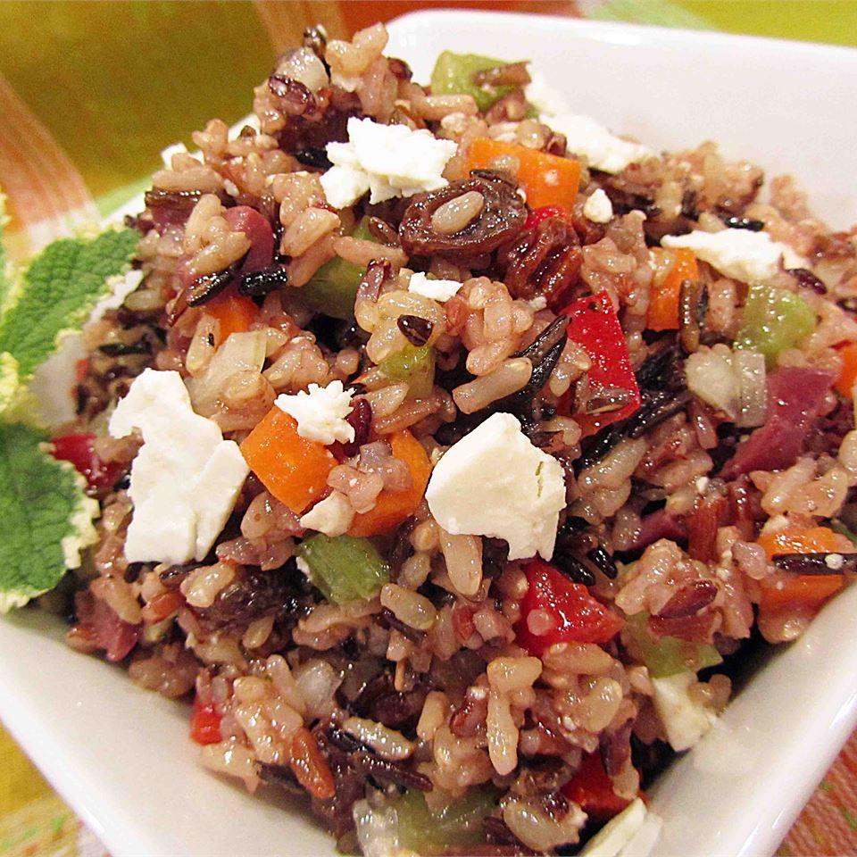 Mediterranean Brown Rice Salad Anne