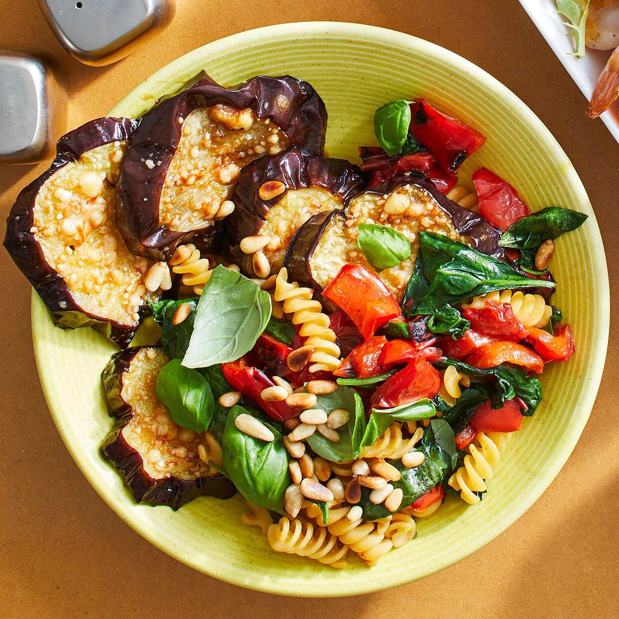 Parmesan Eggplant Pasta