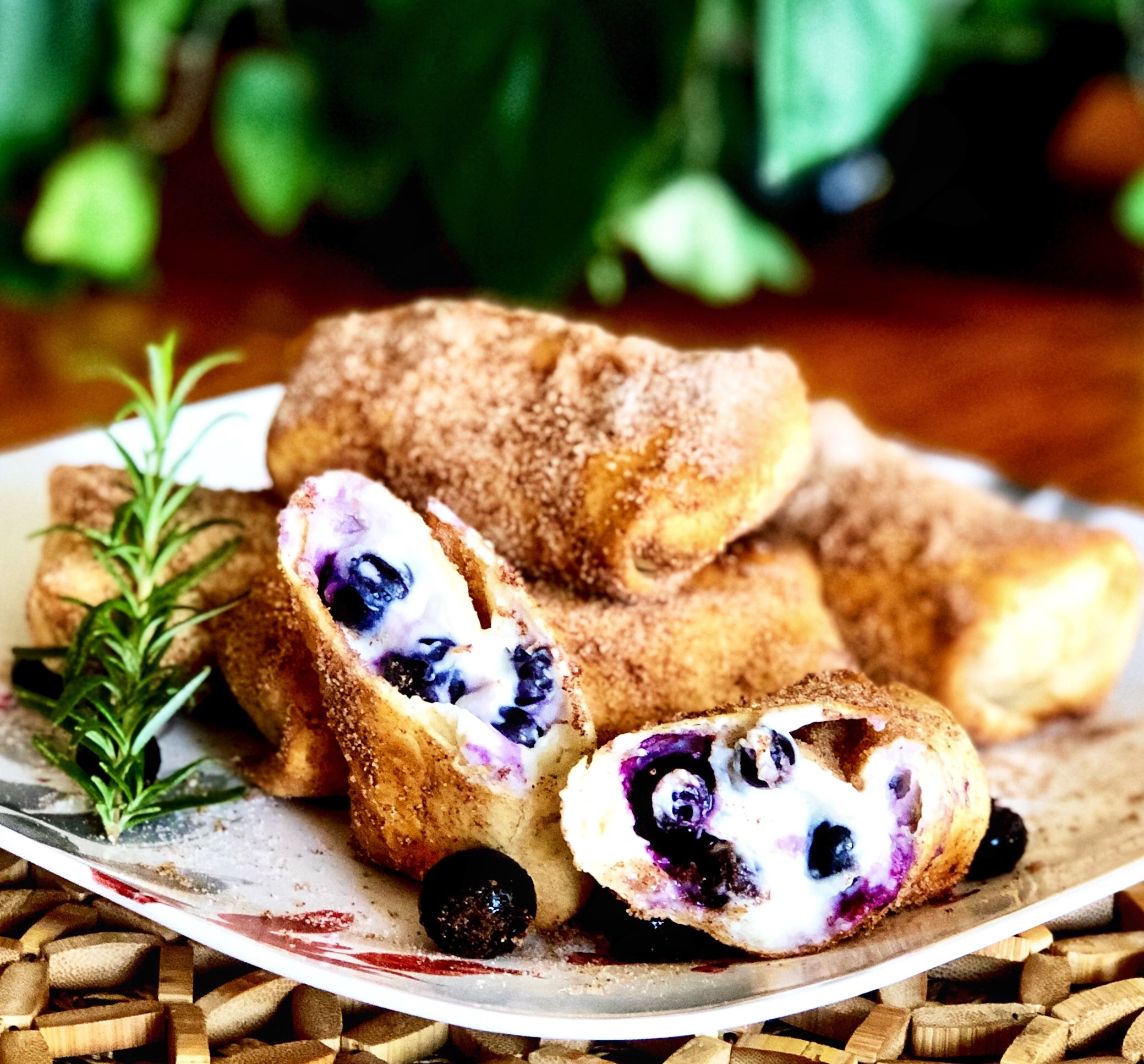 Air Fryer Blueberry Chimichangas Yoly