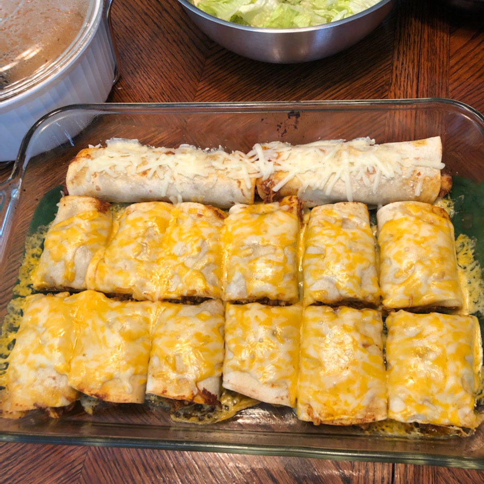 Chicken Chimi in the Oven Lori L. Cotner