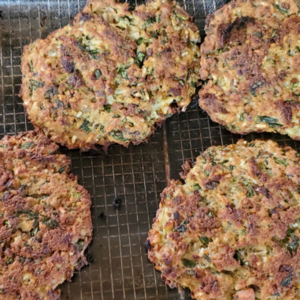 Baked Chicken Burgers with Mushrooms and Spinach Sunday Neeman