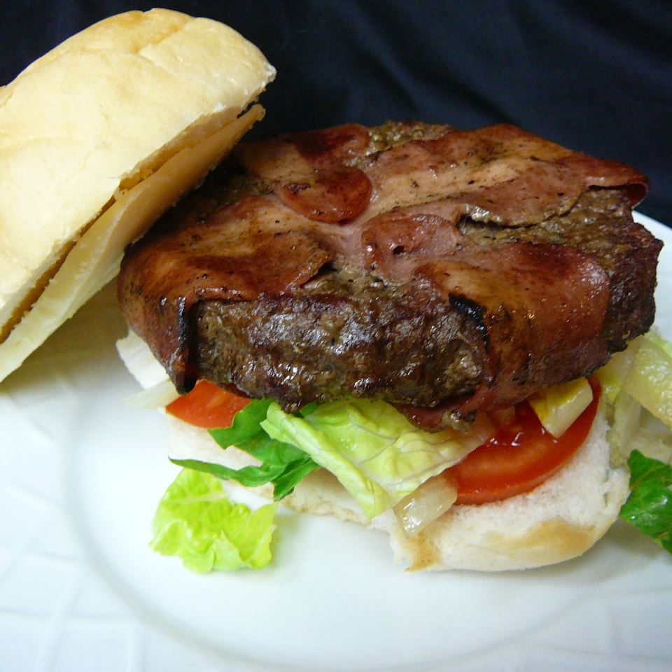 Bacon Wrapped Hamburgers