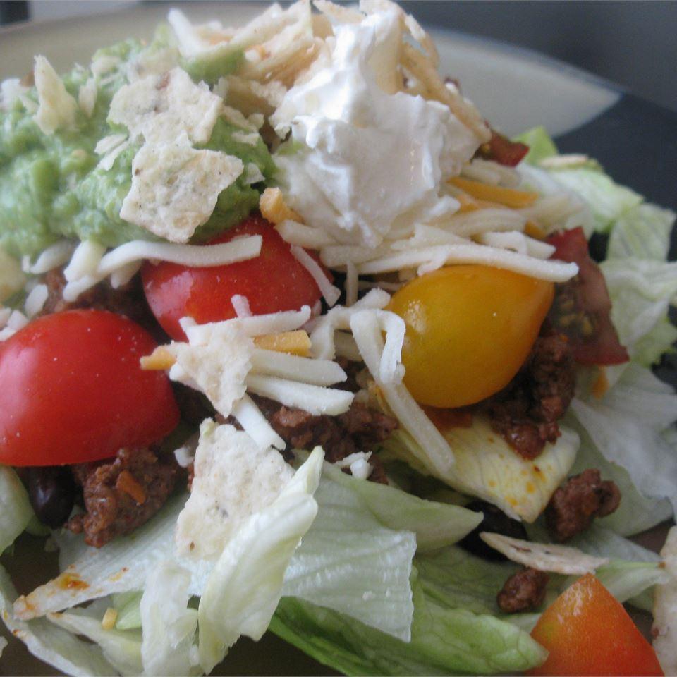 Easy Black Bean Taco Salad mommyluvs2cook