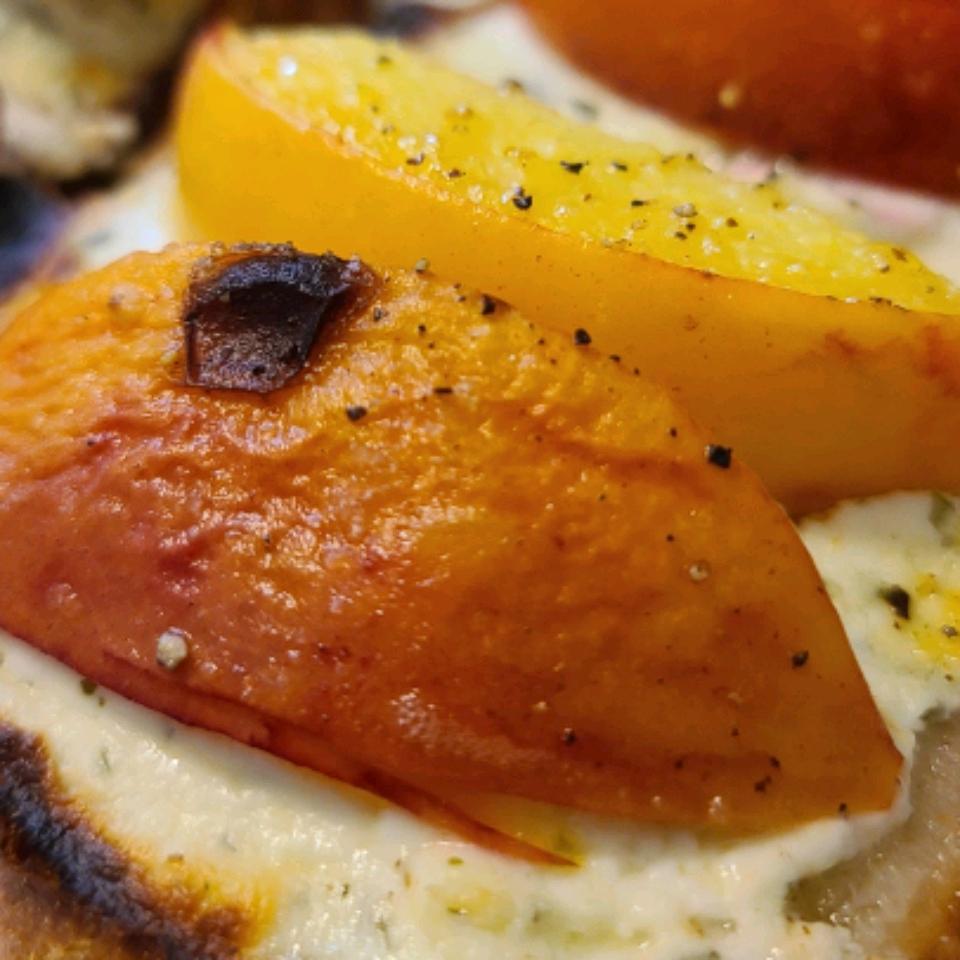 Peach and Goat Cheese Tartine WYERA
