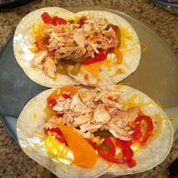 Easy Slow Cooker Pulled Chicken Tacos