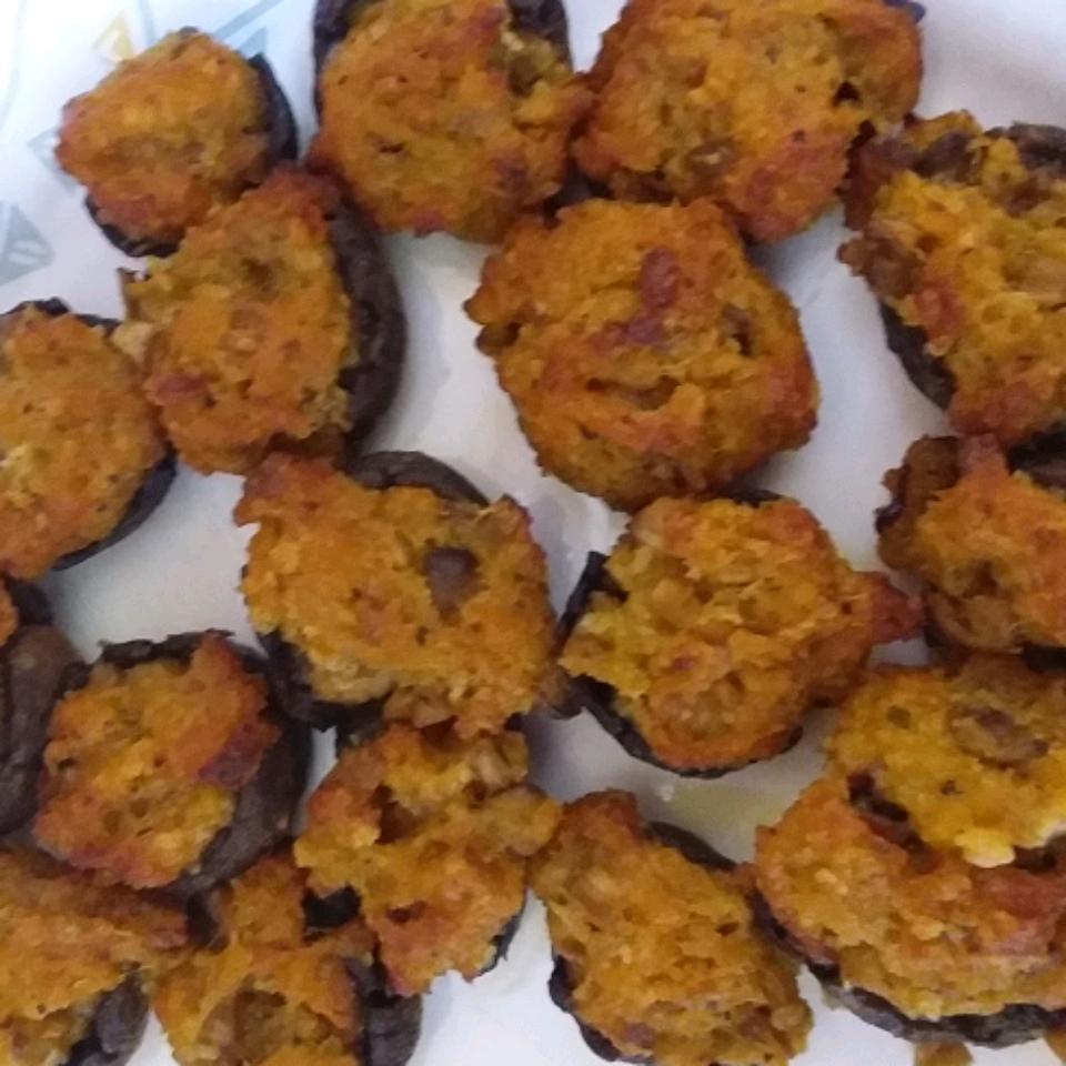 Cheddar Pecan Stuffed Mushrooms Celia Goodwin