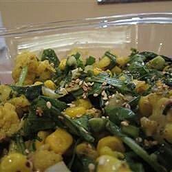 cauliflower and arugula honey sesame salad recipe