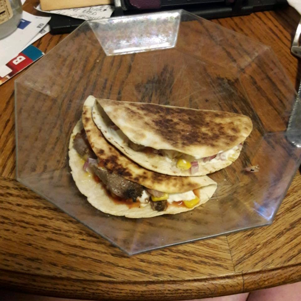 Creamy Jalapeno and Pulled Pork Quesadilla Michelle Seace Traino