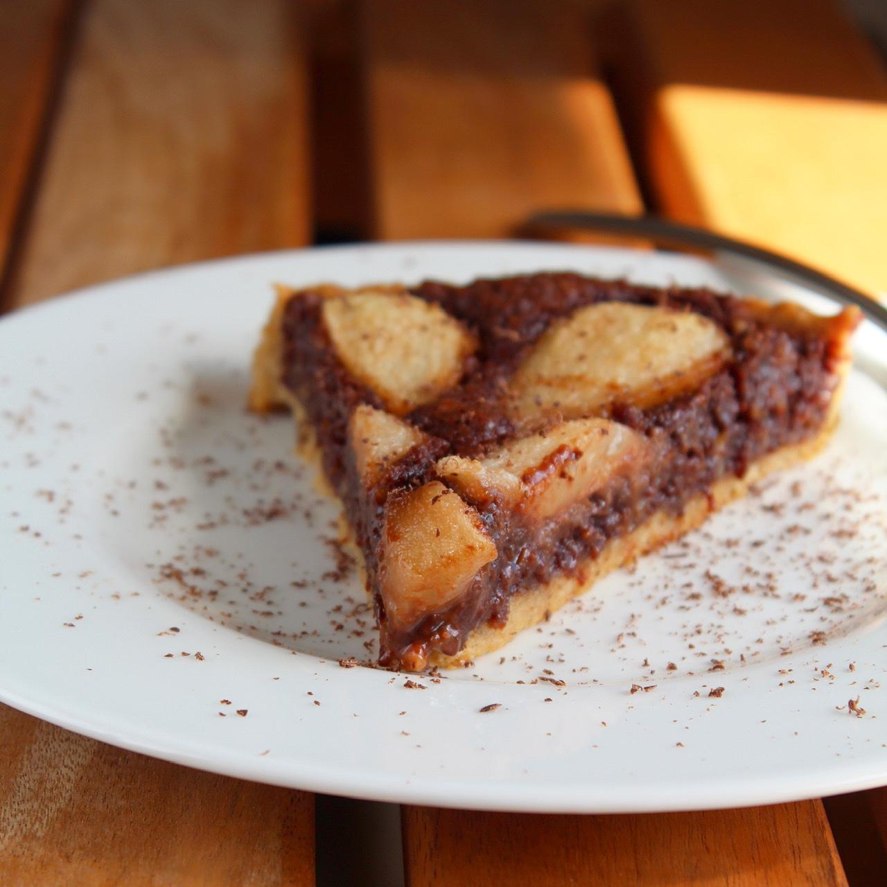 Pear and Chocolate Tart Buckwheat Queen