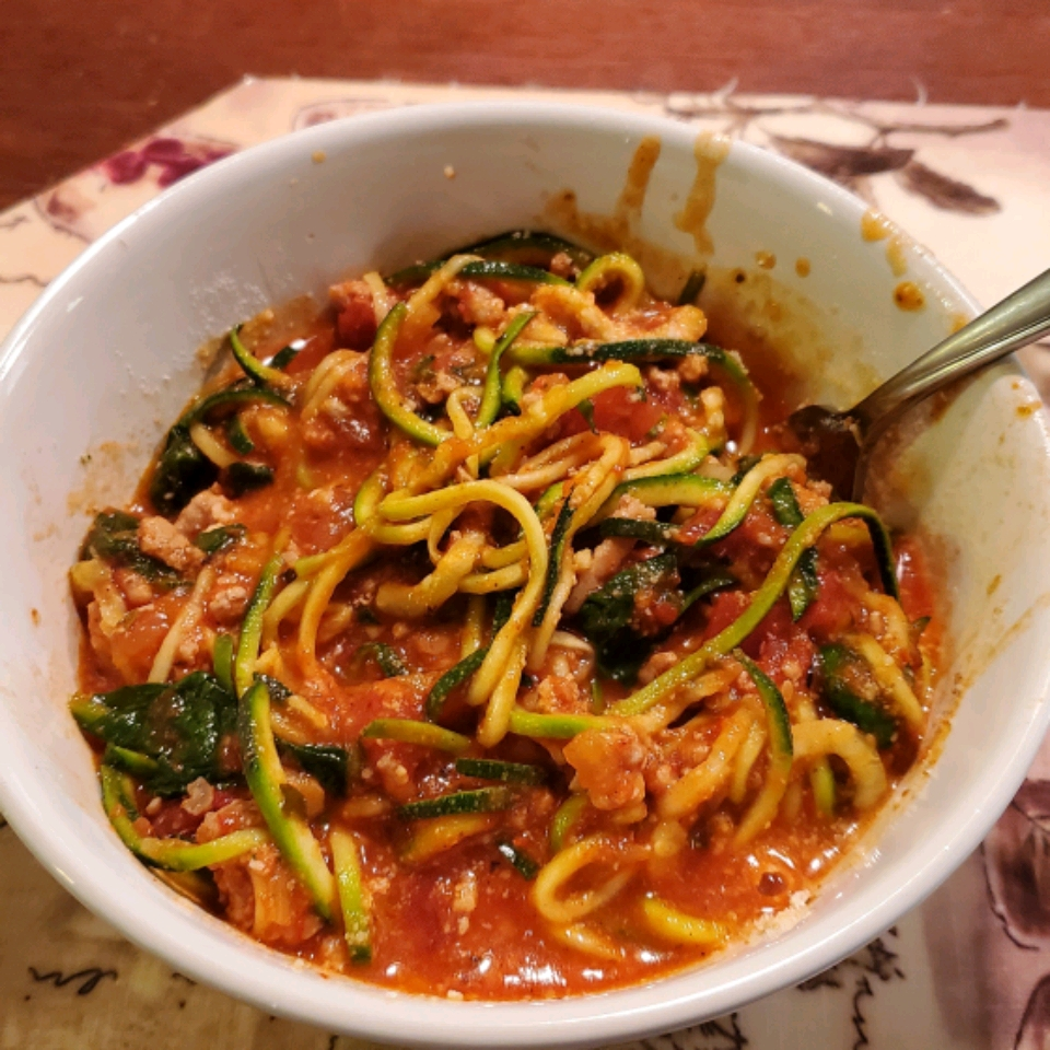 Turkey Spaghetti Zoodles walleyworld28