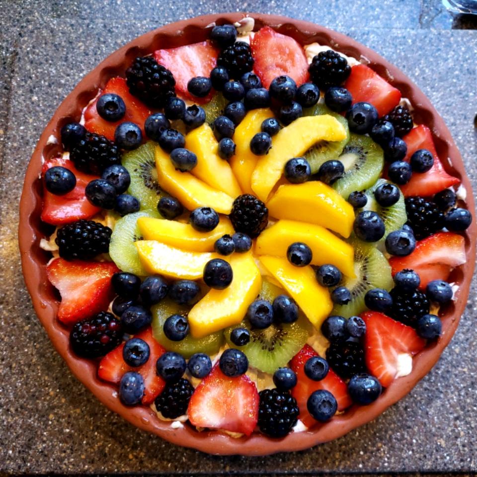 Fresh Fruit Tart with Mascarpone Vicky Woodworth