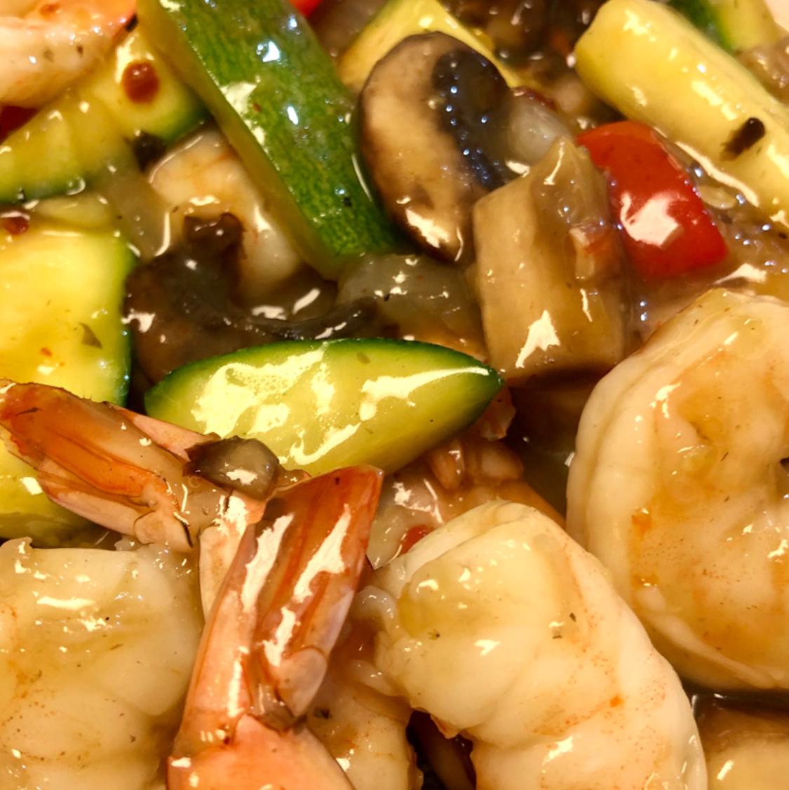 Honey-Ginger Shrimp and Vegetables Aubrey Myers