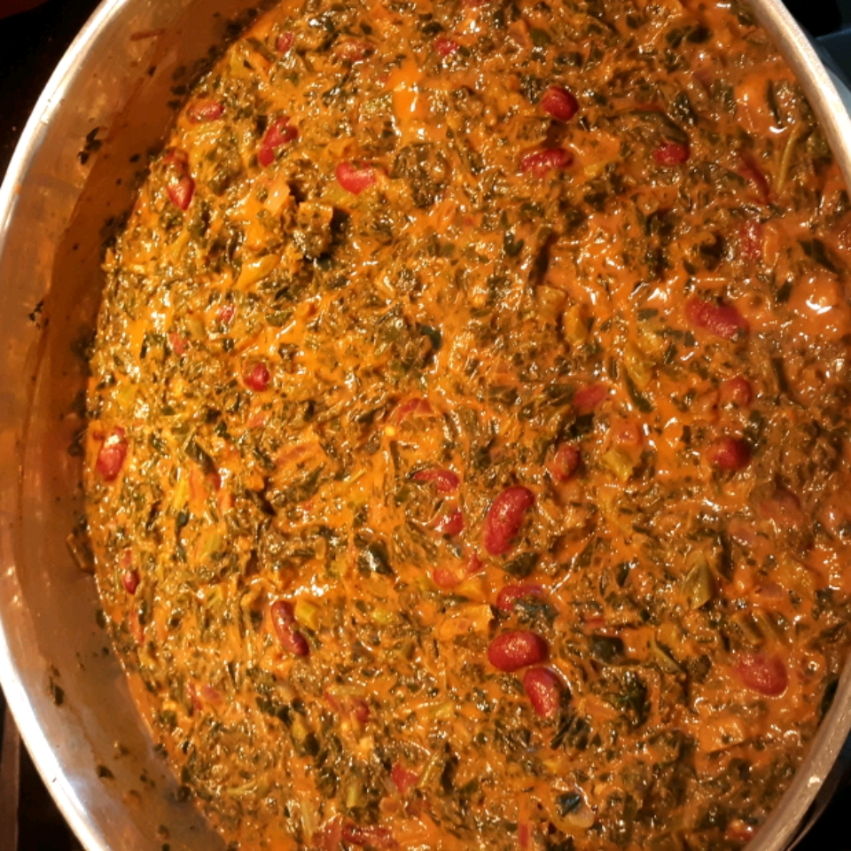 Curried Mustard Greens with Kidney Beans Cynthia Snow Williams