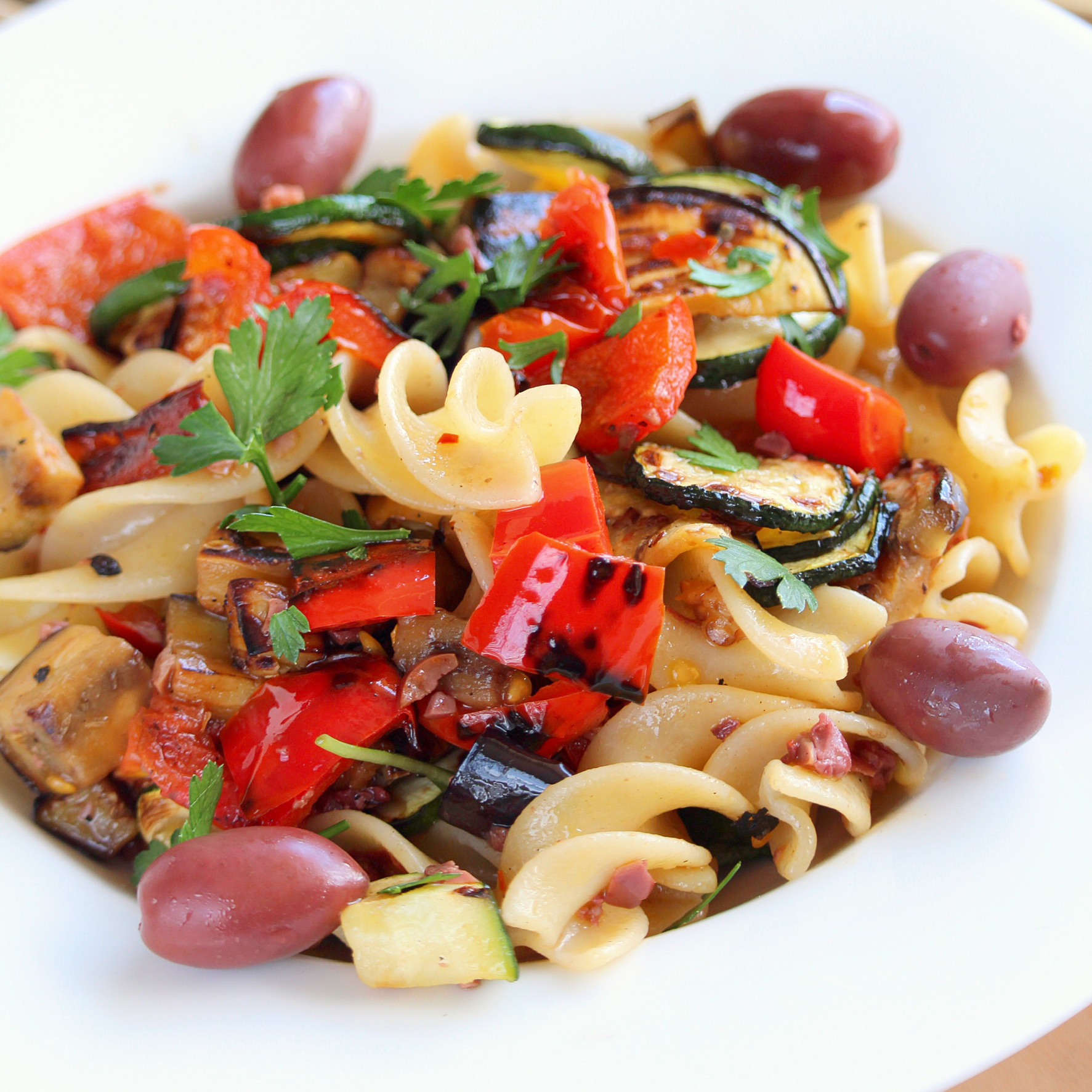 Vegan Italian Pasta Salad with Vegetables and Olives Buckwheat Queen