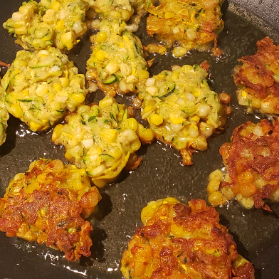 Curried Zucchini Corn Fritters