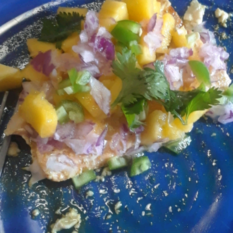 Curry Salmon with Mango Carlos Ortiz