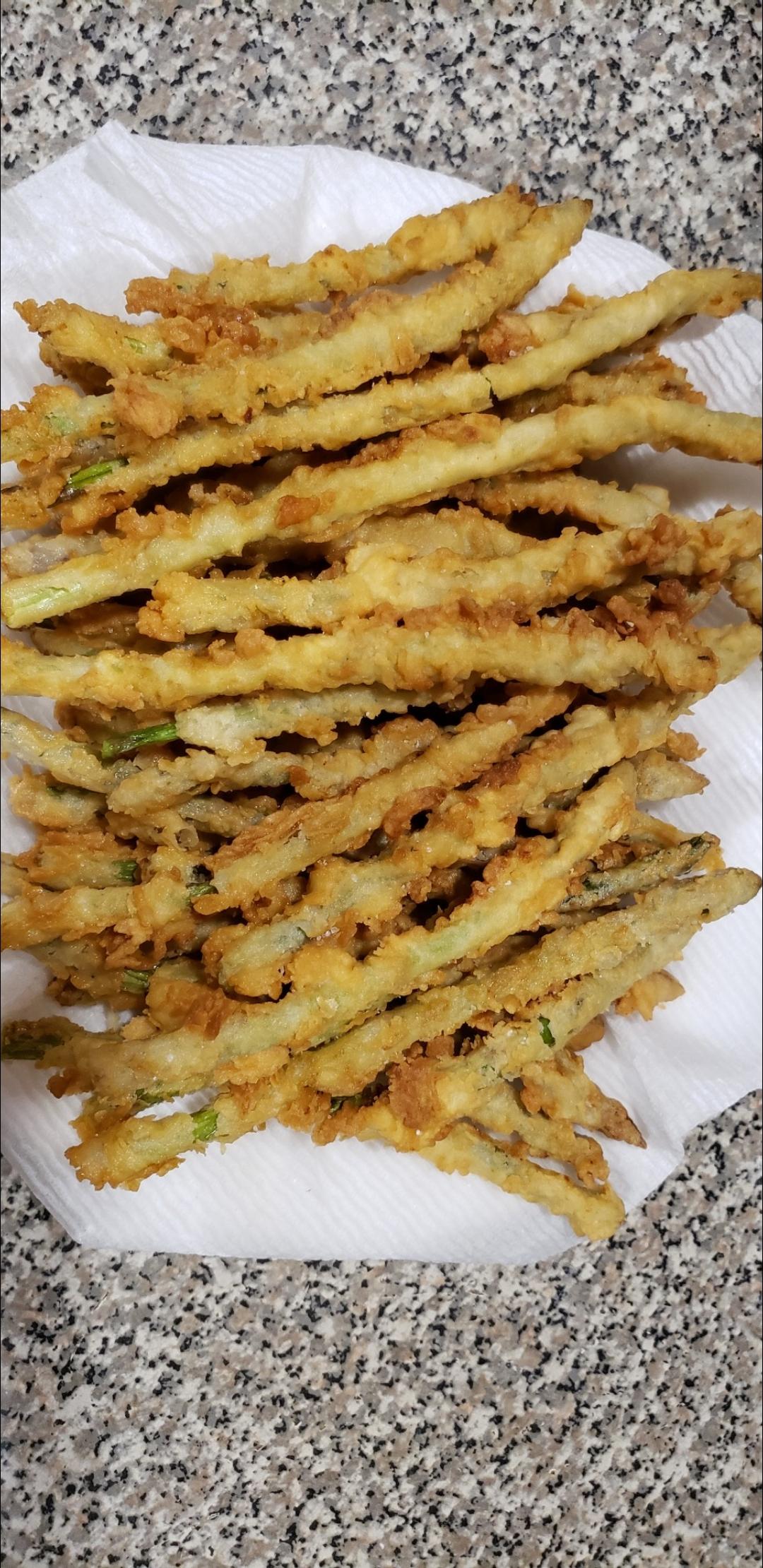 Fried Asparagus Sticks Heather Marie