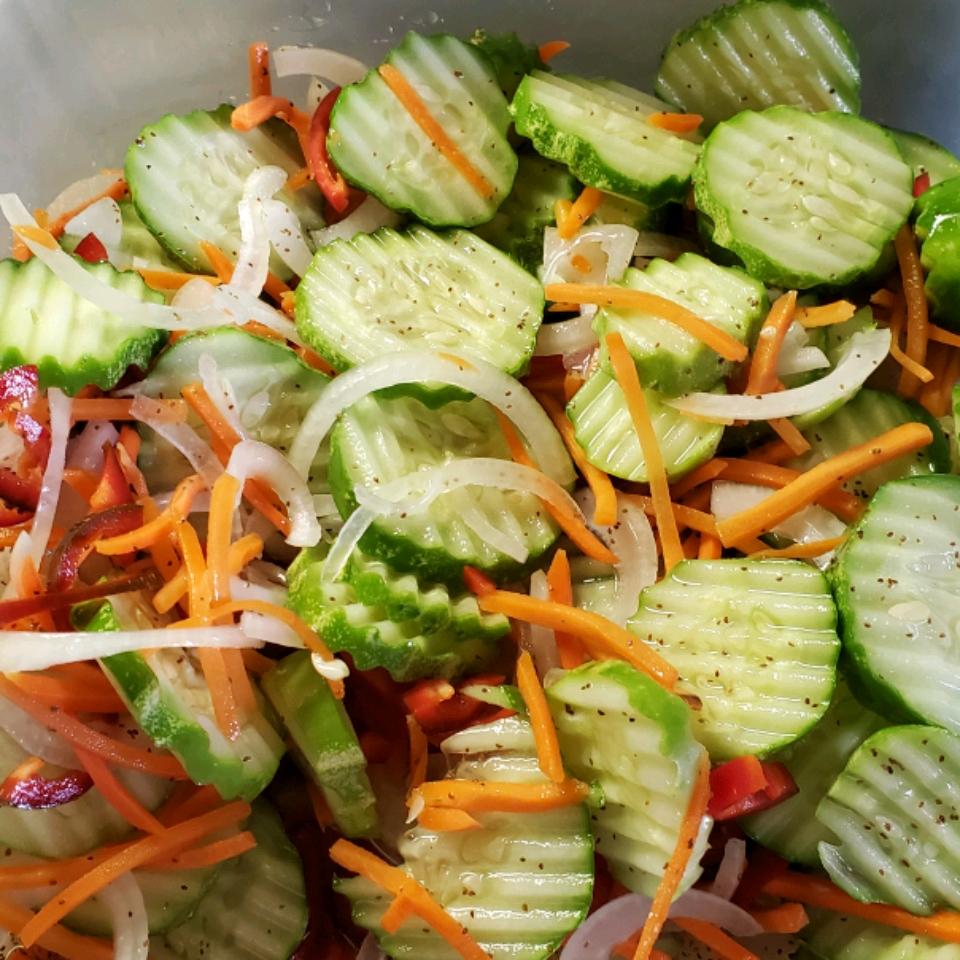 Grandma's Cucumber and Onion Salad