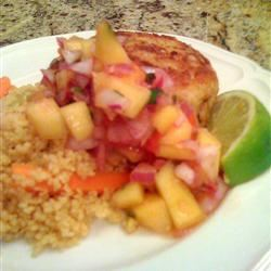Caribbean Grilled Crab Cakes