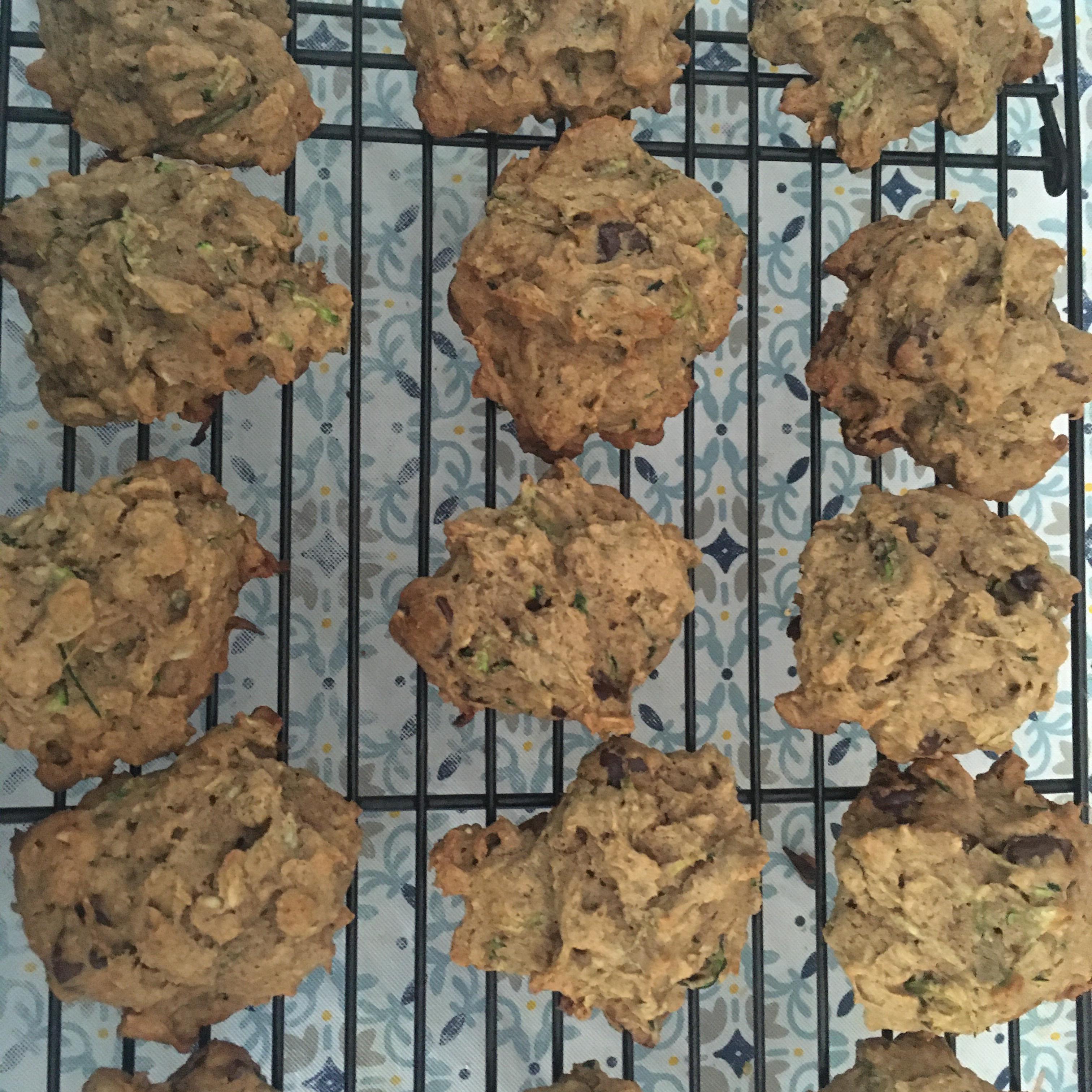 Spicy Zucchini Oatmeal Cookies Katie