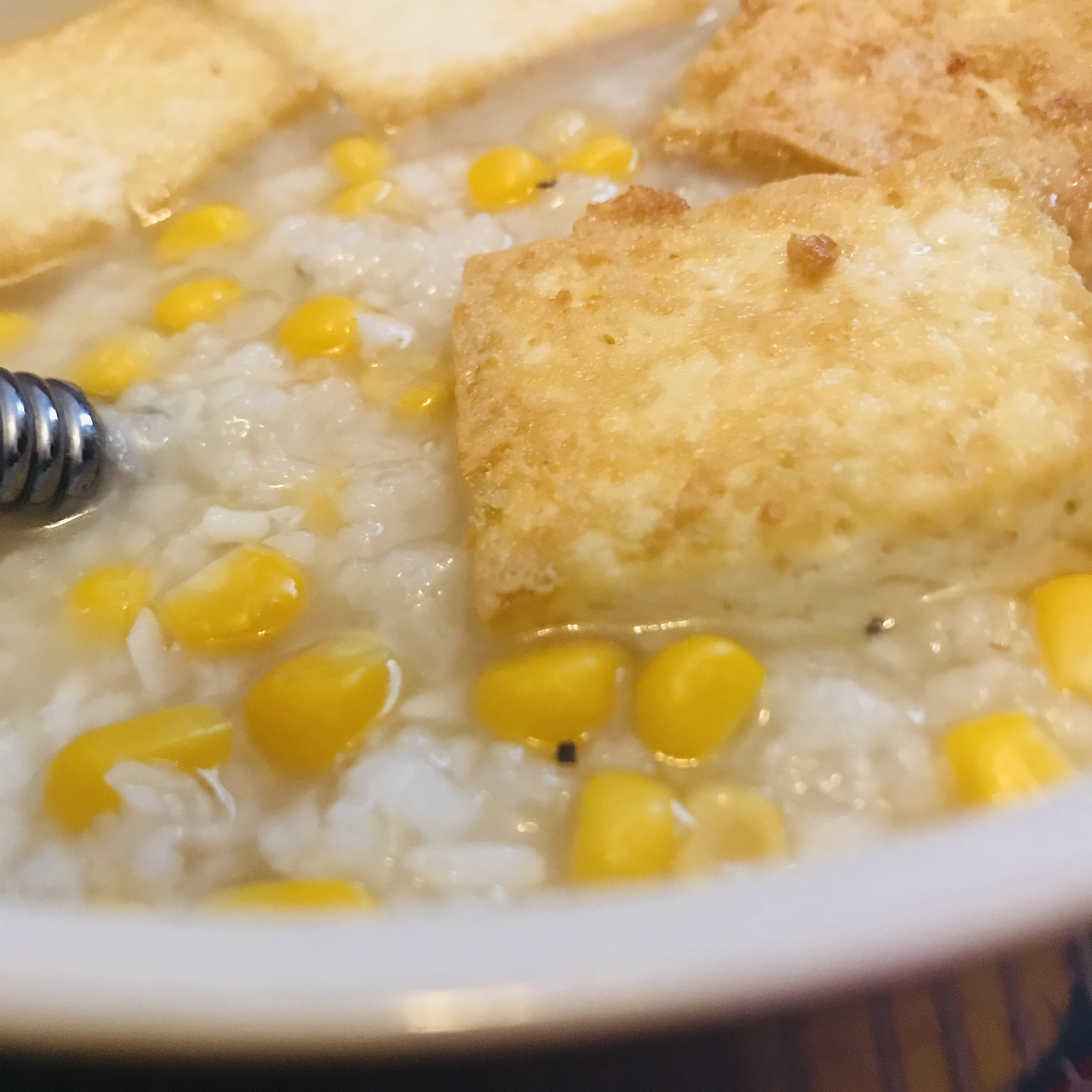 Slow Cooker Chicken and Corn Congee ?????